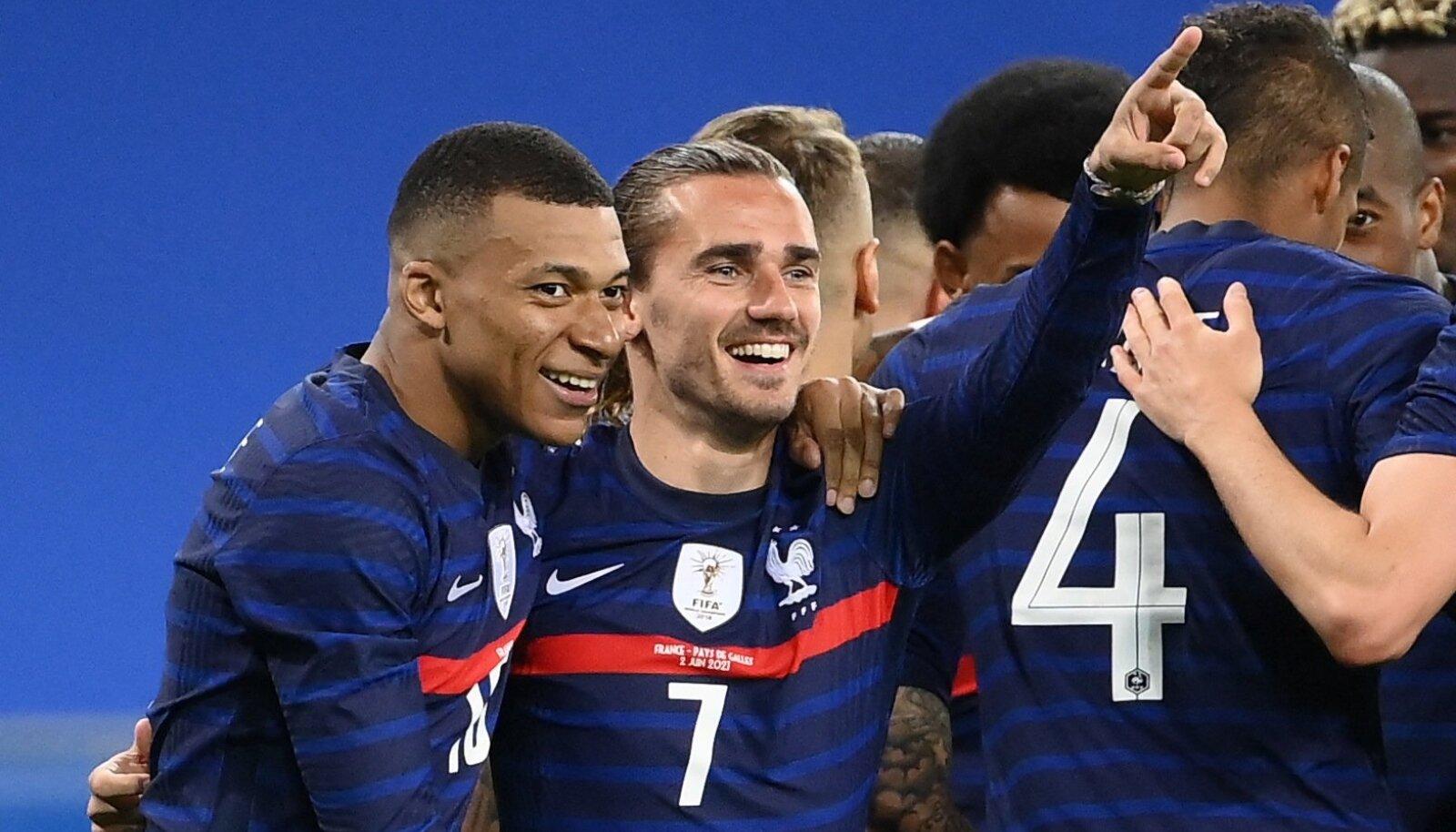 Prantsusmaa näitas EM-i eel ründejõudu.