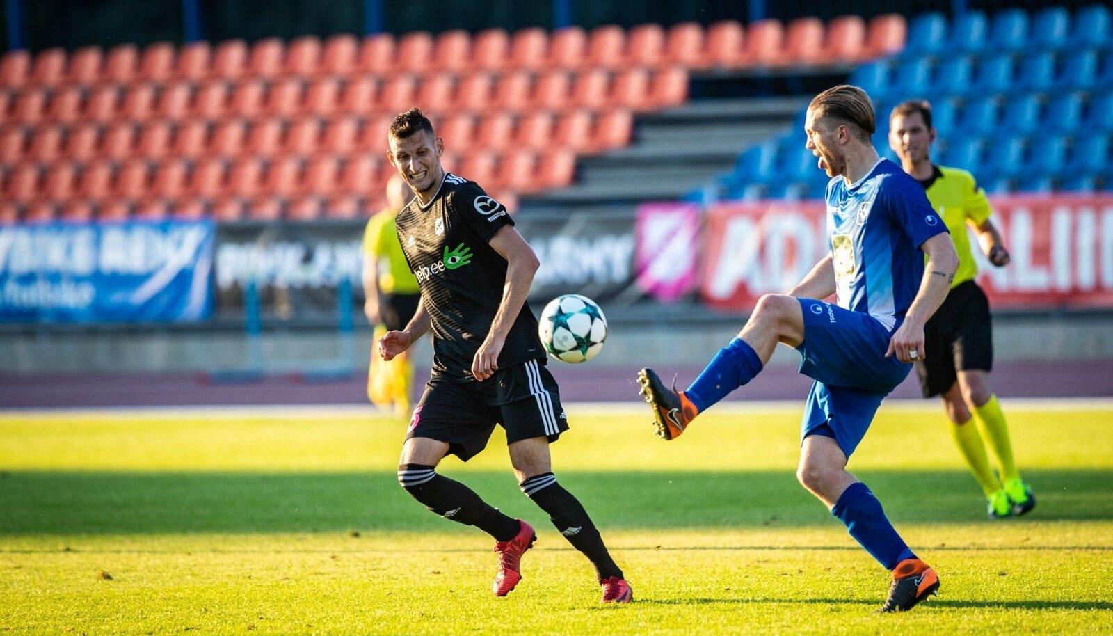 Nõmme Kalju euromäng Kadrioru staadionil.