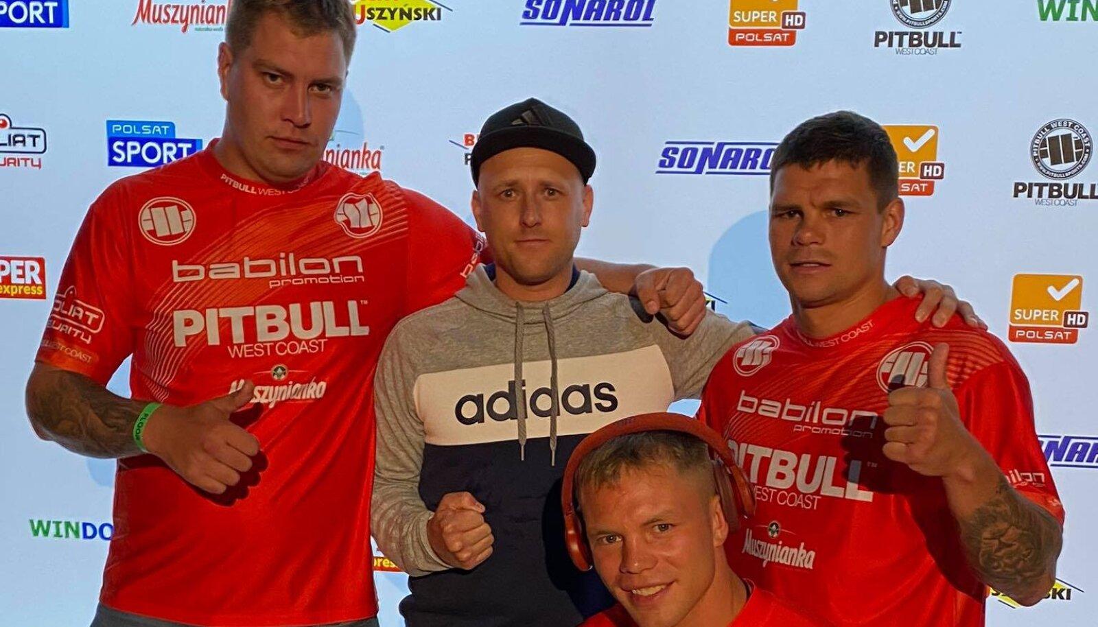 Markko Moisar koos oma toetustiimiga.