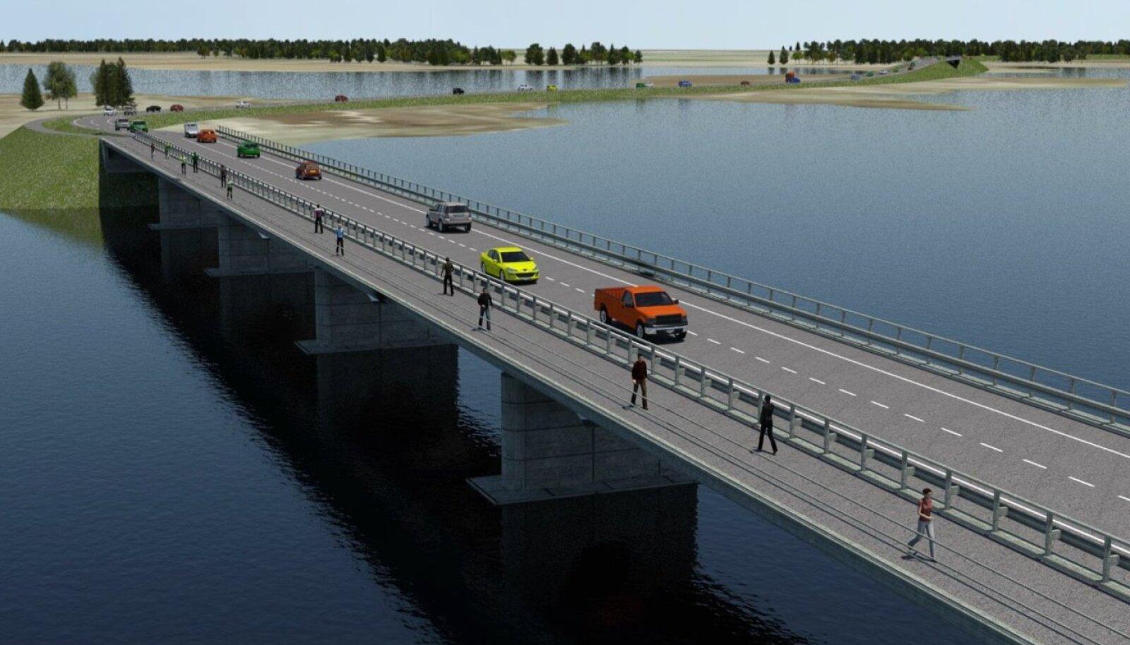 Eskiisis on välja pakutud, et sild võiks välja näha selline.