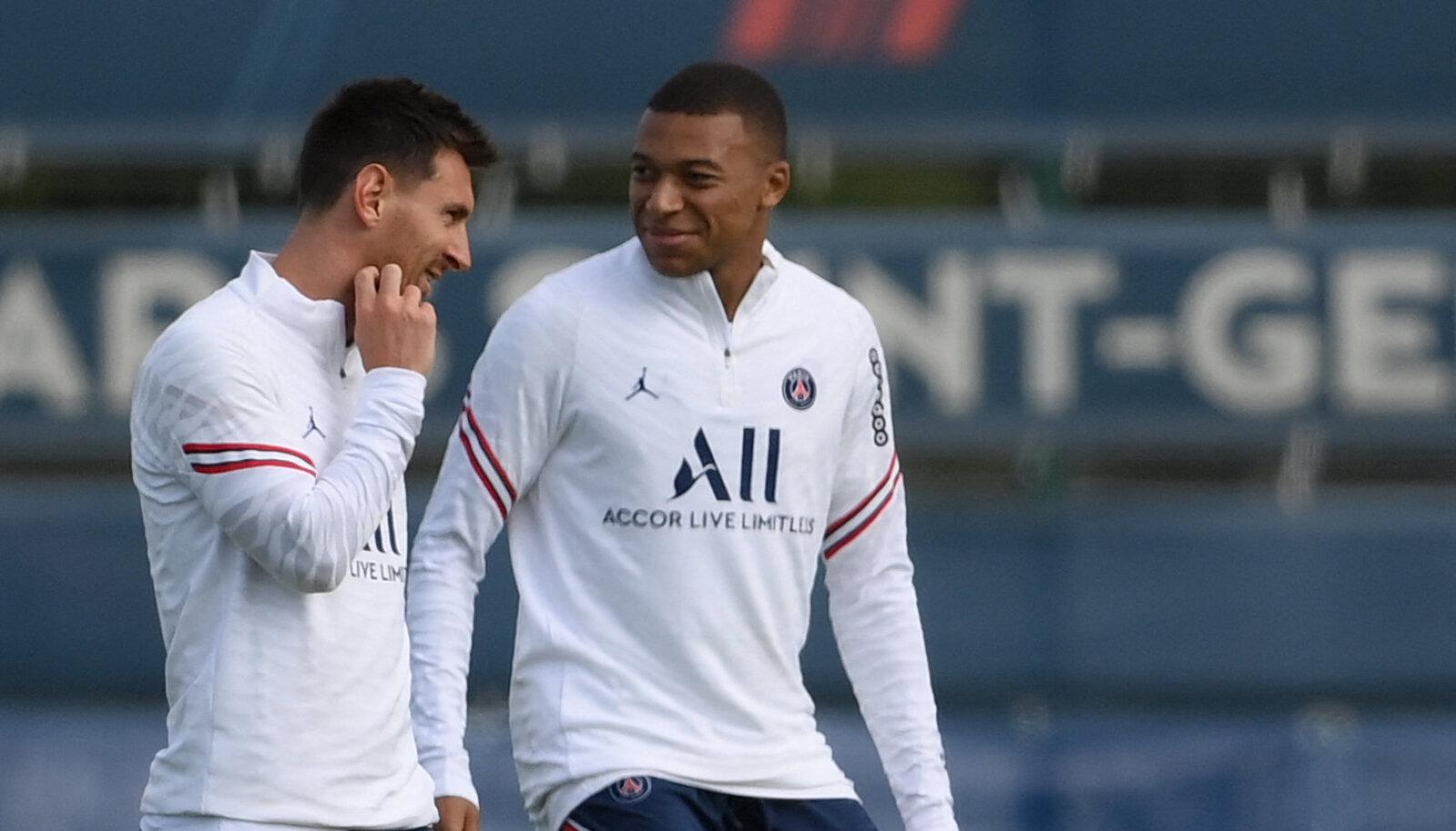 Lionel Messi ja Kylian Mbappe