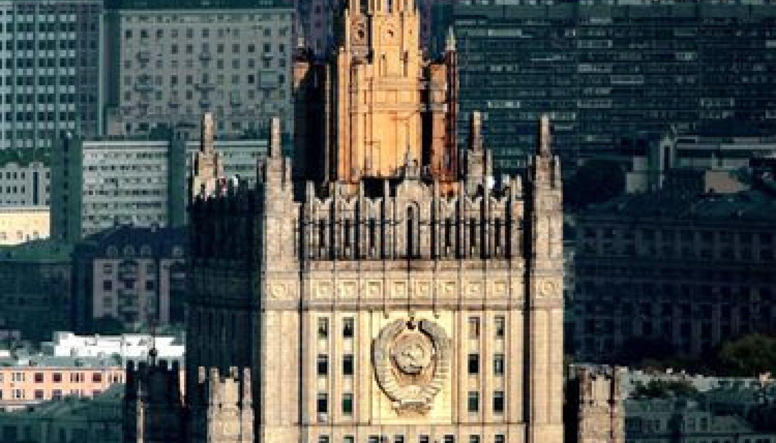 Smolenski väljakul asuva Venemaa välisministeeriumi peahoone Moskvas