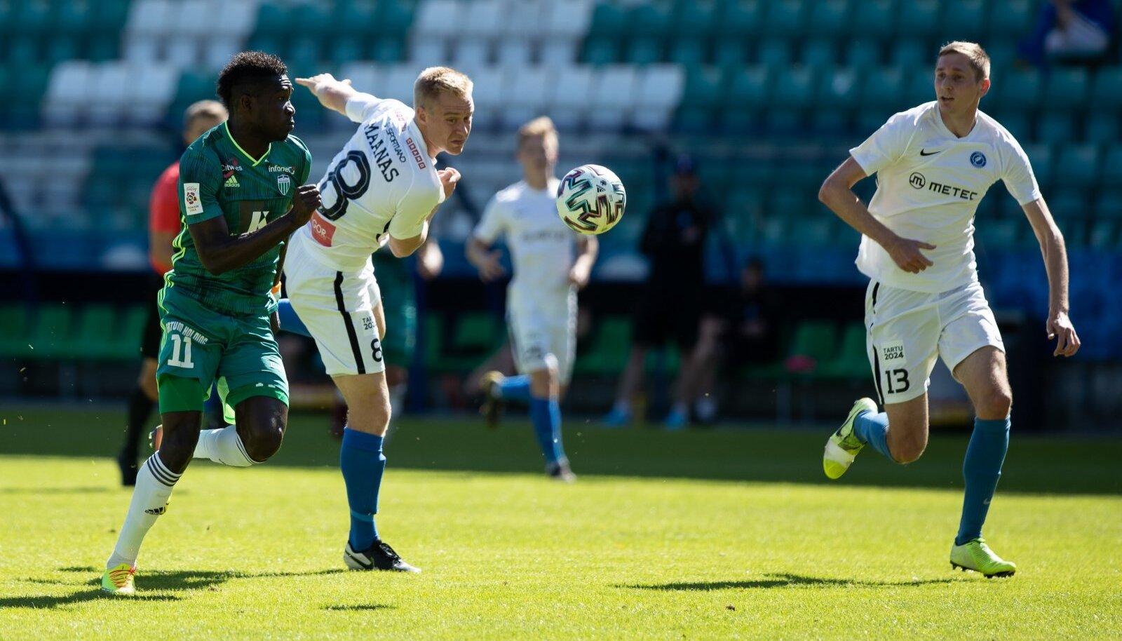 Tallinn, 13.06.2020. Premium liiga 7 vooru kohtumises mängisid omavahel 2 : 2 viiki Tallinna FCI Levadia ja Tartu JK Tammeka.