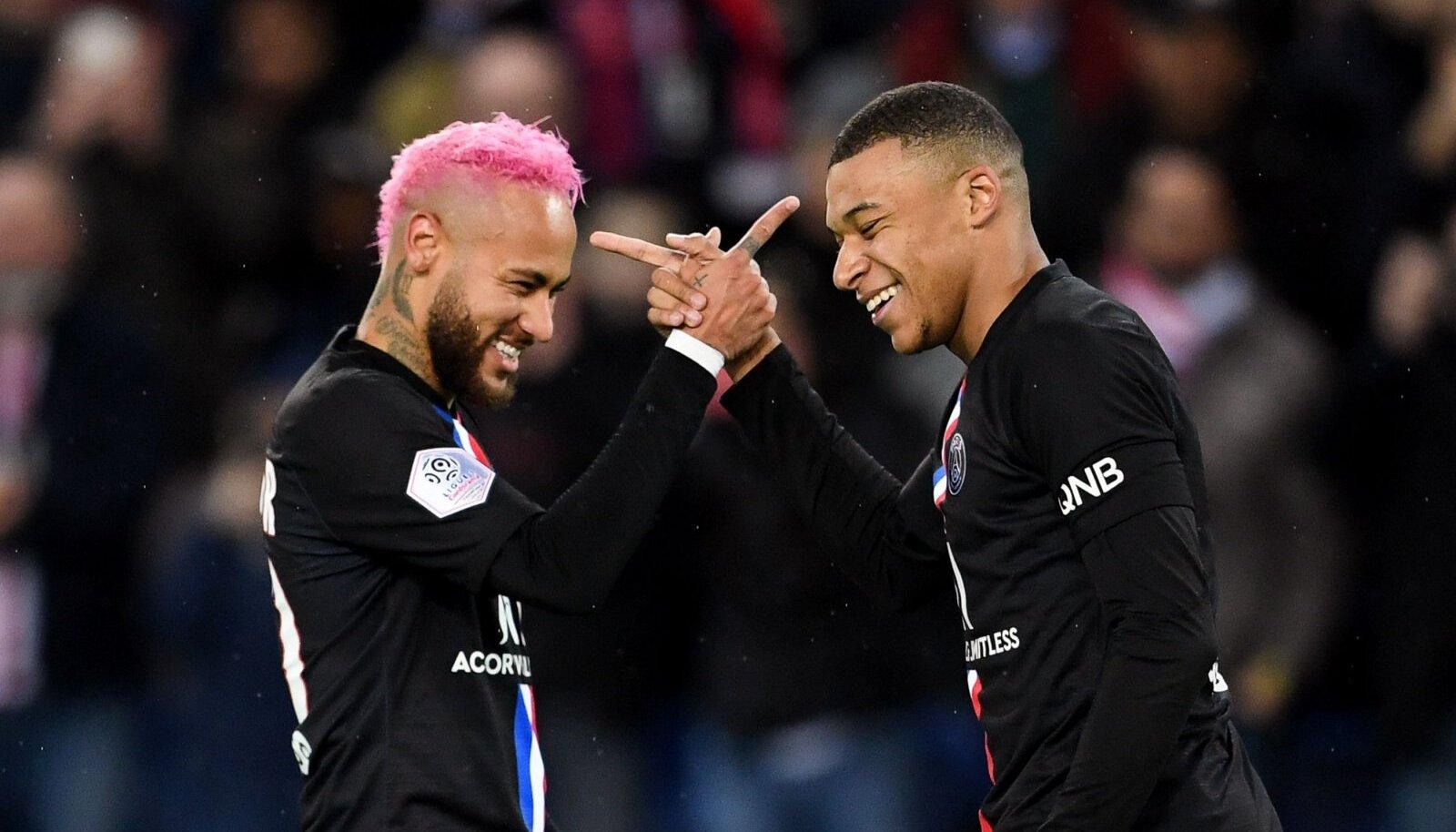 Neymar ja Kylian Mbappe