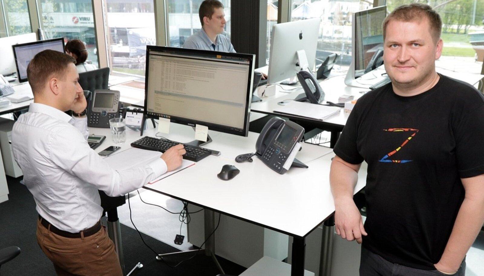 Indrek Aigro Tallinnas Copenhagen Merchantsi kontoris.