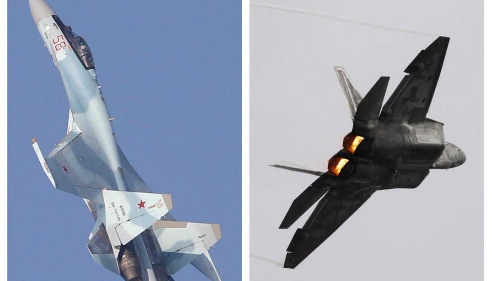 Su-35 ja F-22