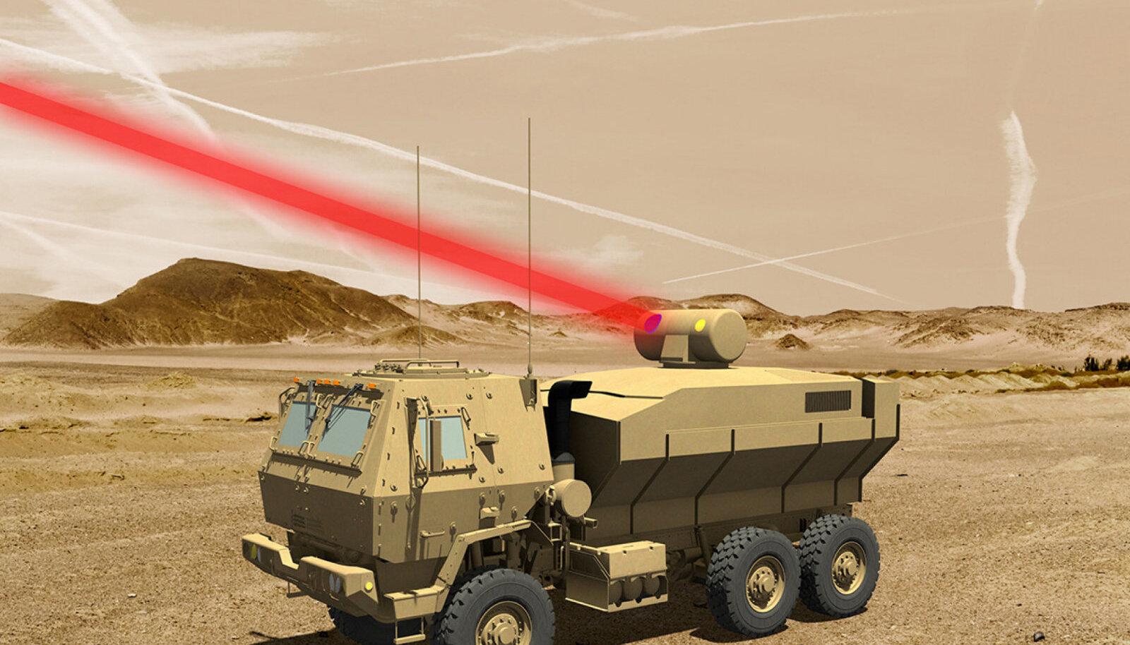 Mobiilne 60 kW laserkahur. Kujutis: Lockheed Martin