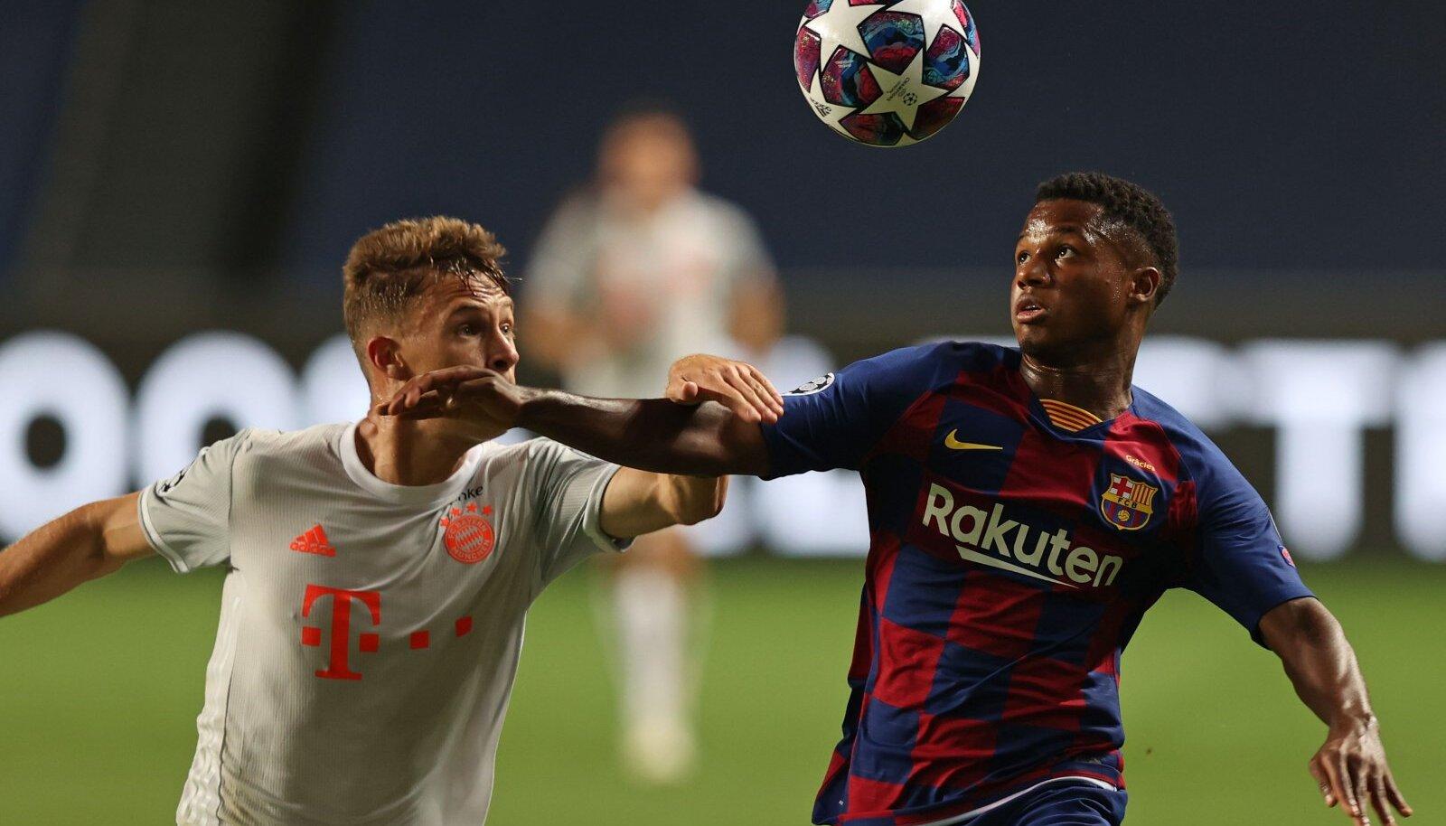 Лига Чемпионов 2019/20, ФК Барселона играет с ФК Бавария Мюнхен