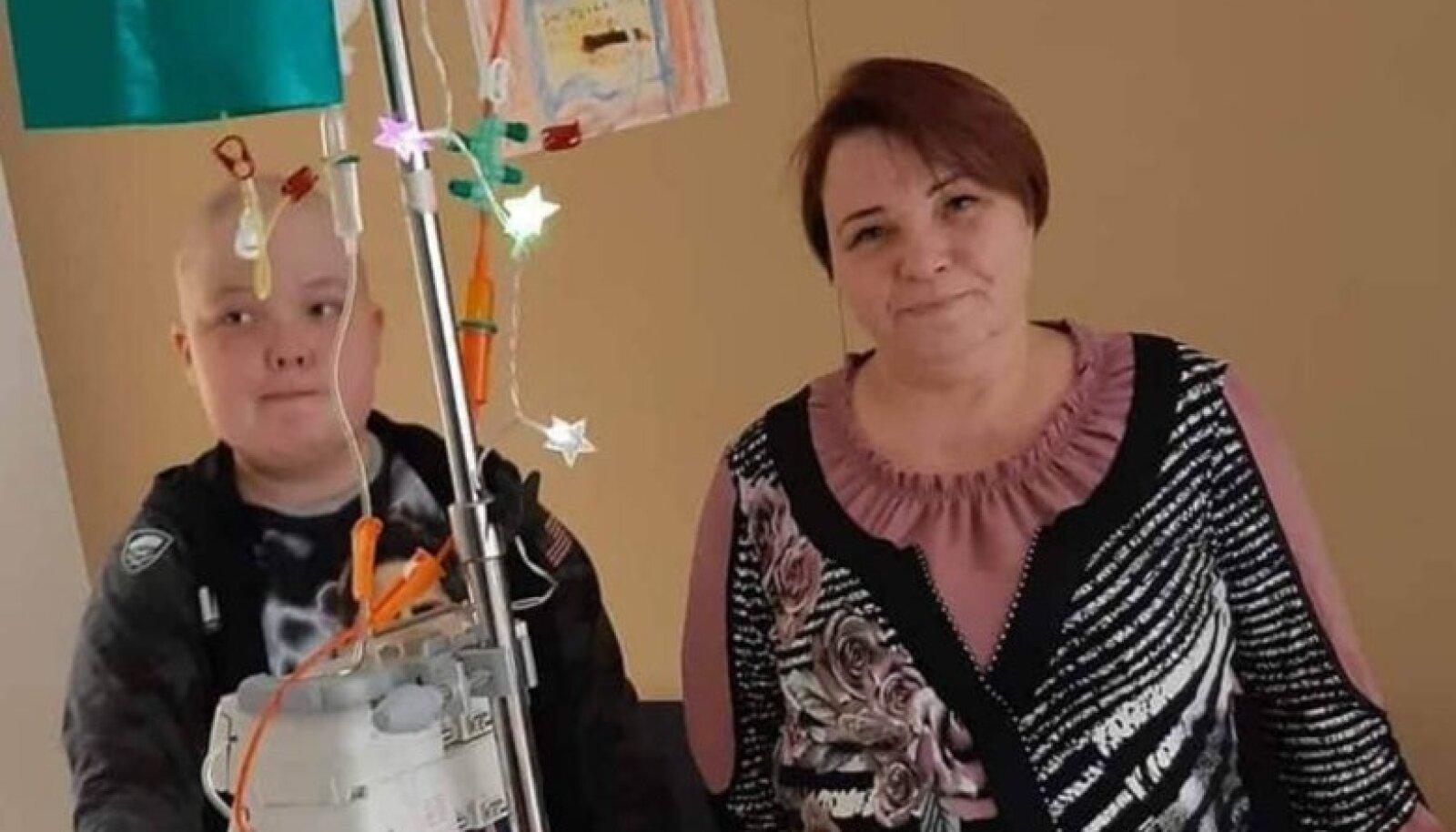 Rasmus ema Ehaga haiglas. Foto: erakogu