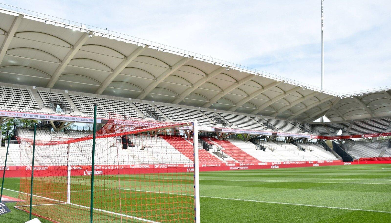 Reims'i jalgpalliklubi staadion.
