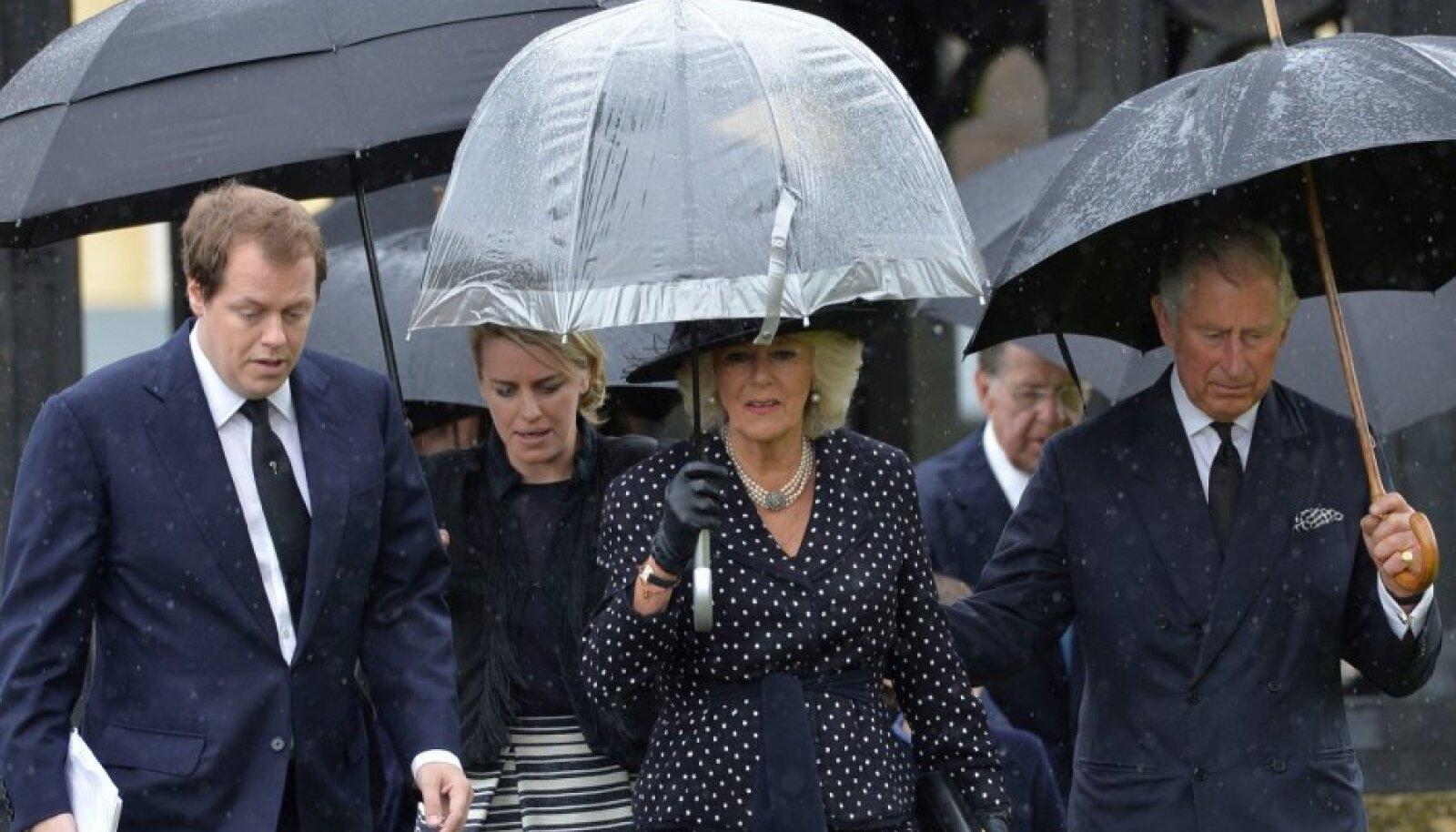 Cornwalli hertsoginna Camilla abikaasa prints Charlesiga Camilla venna Mark Shandi matustel