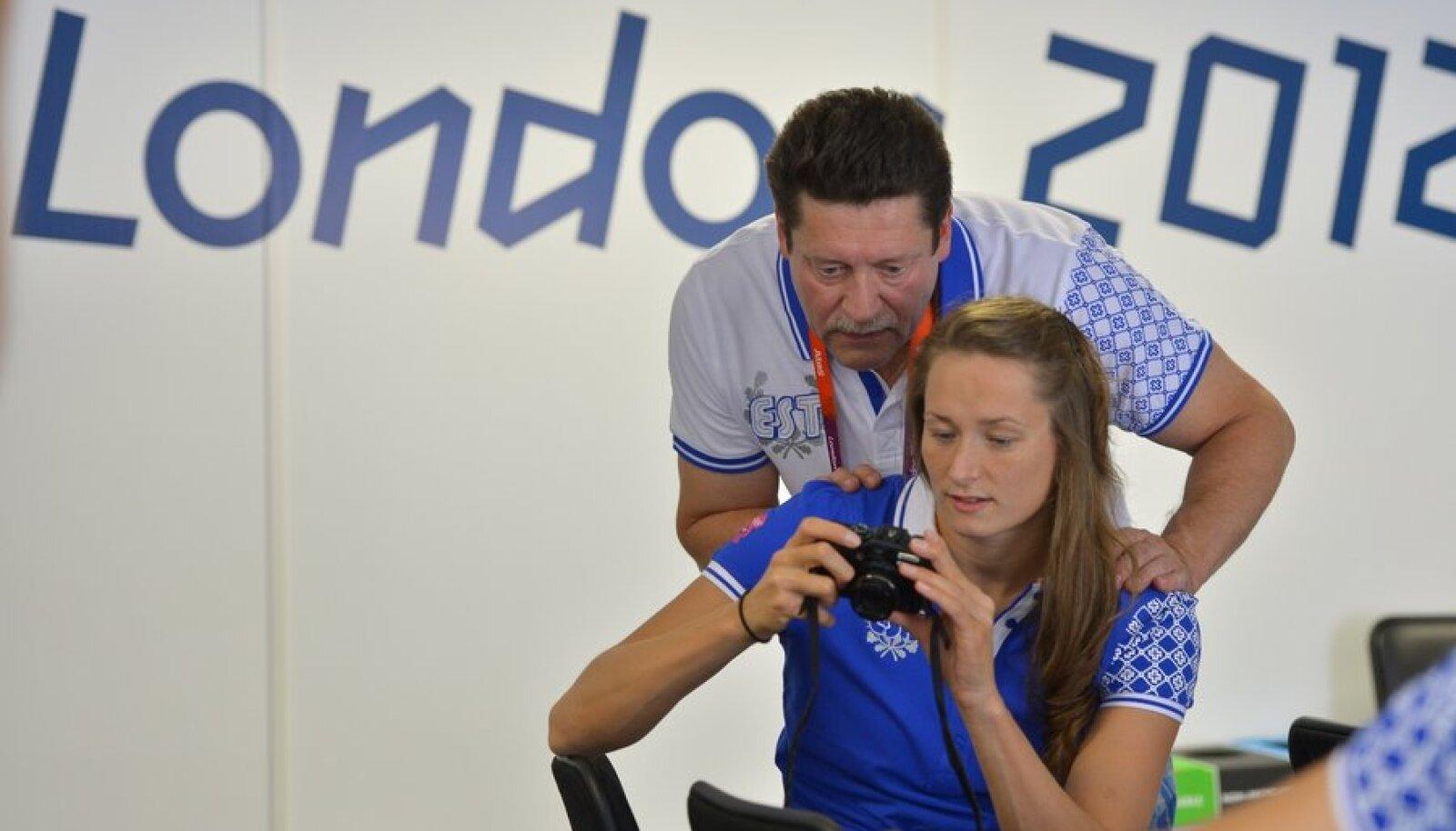 Triin ja Riho Aljand Londoni olümpial.