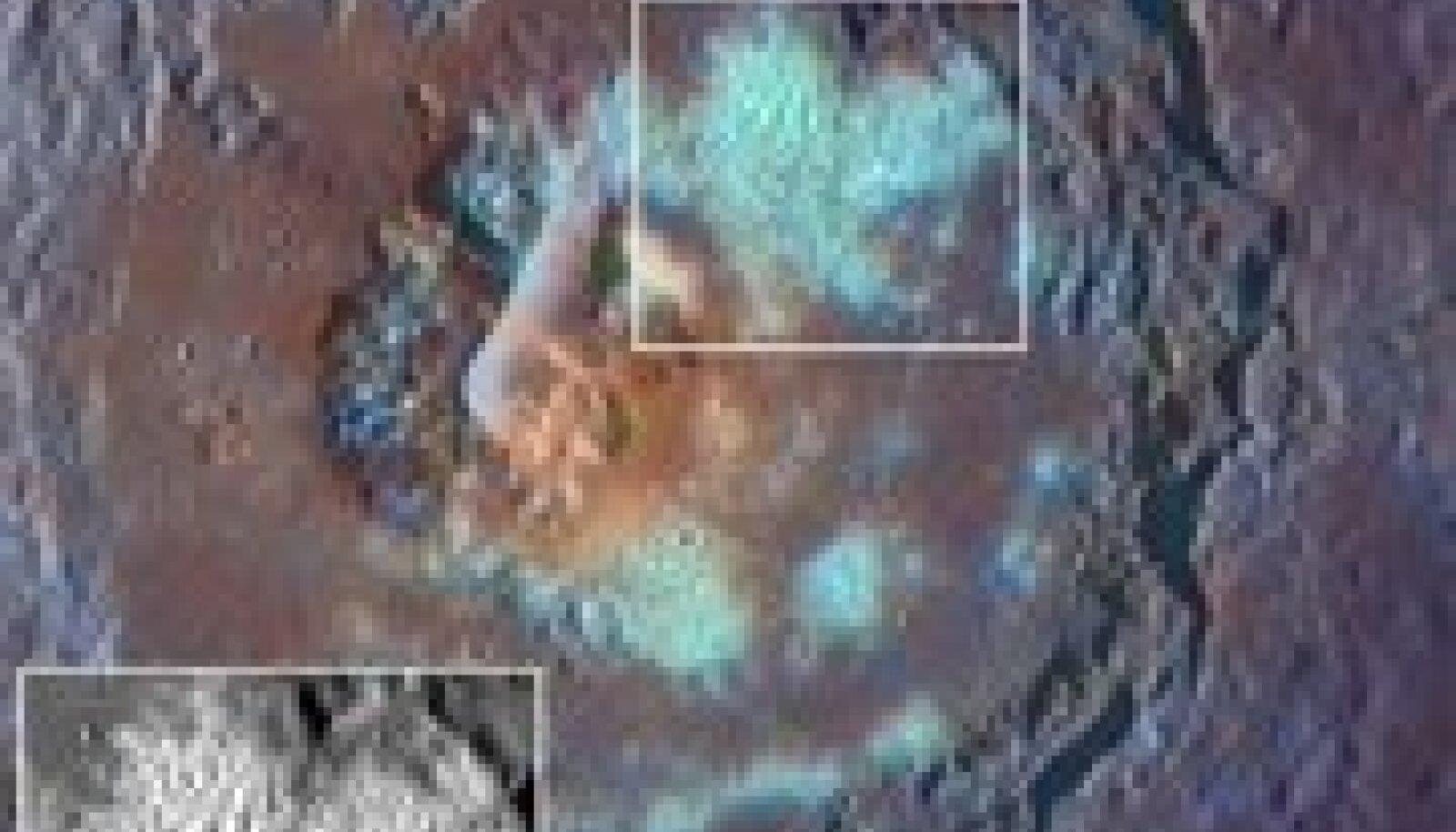 Messengeri pilt Merkuuri kraatritest. Foto: NASA; Reuters