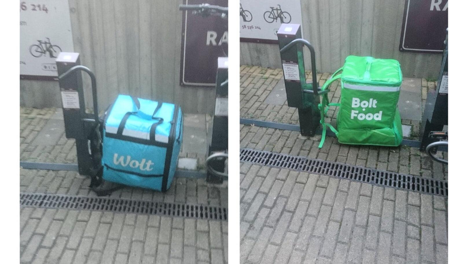 Toidukastid jalgrattalukus