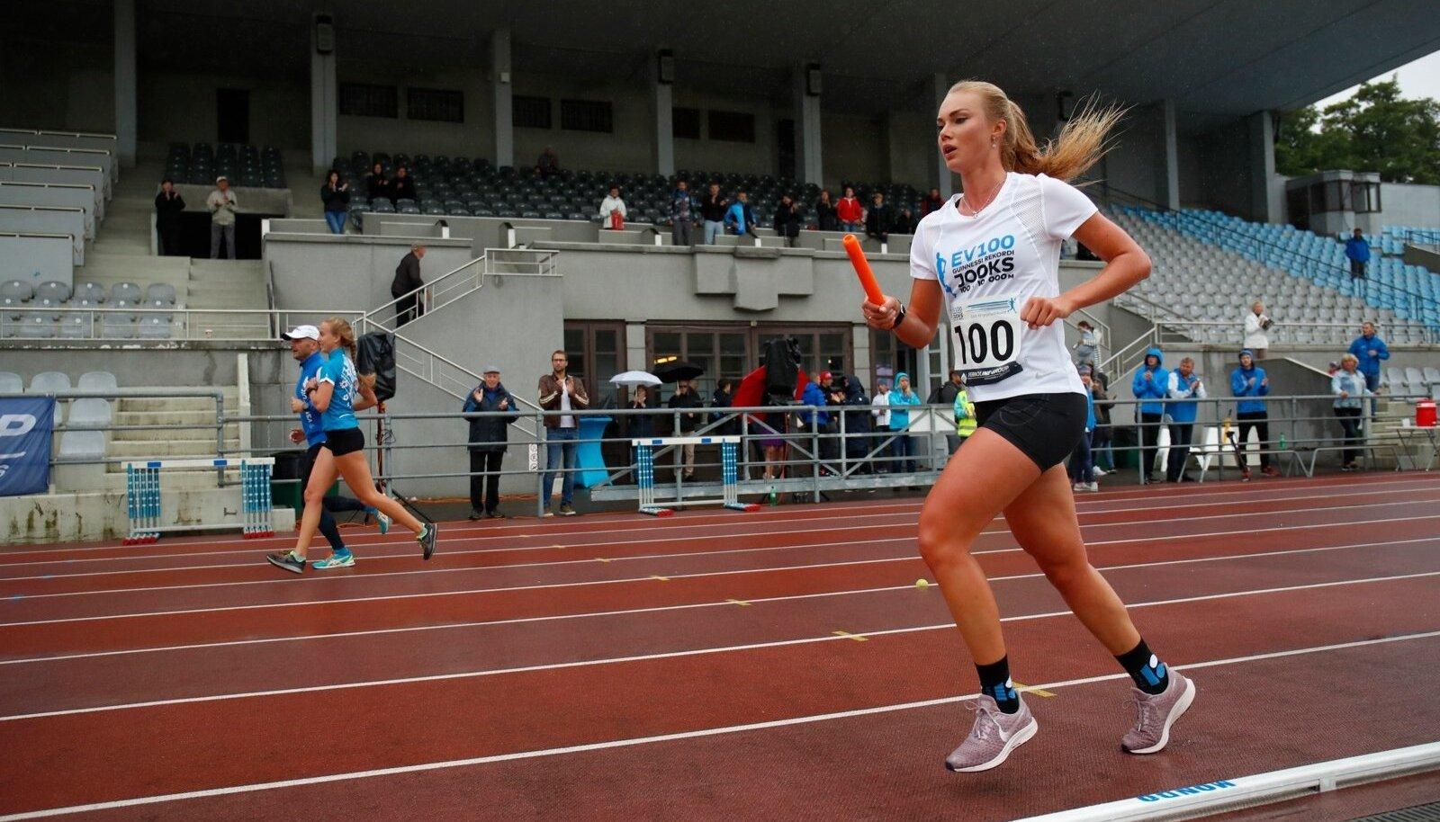 100 x 10 000 meetri Guinnessi rekordi jooks