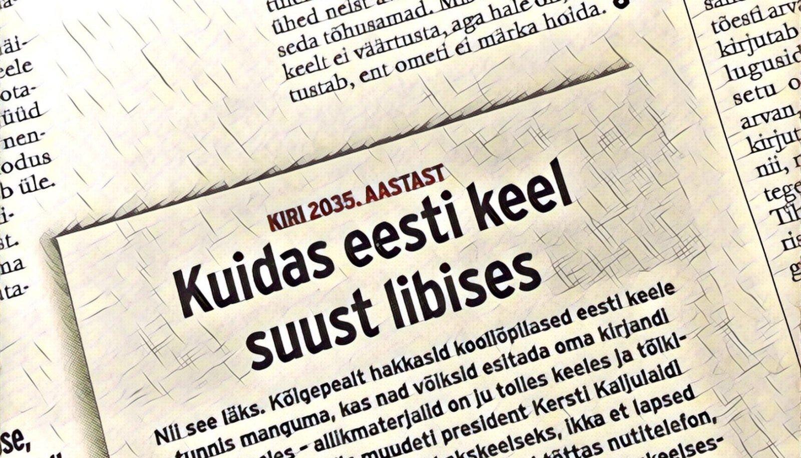 d07c0277384 KIRI TULEVIKUST | Rein Taagepera: kuidas eesti keel meil suust libises