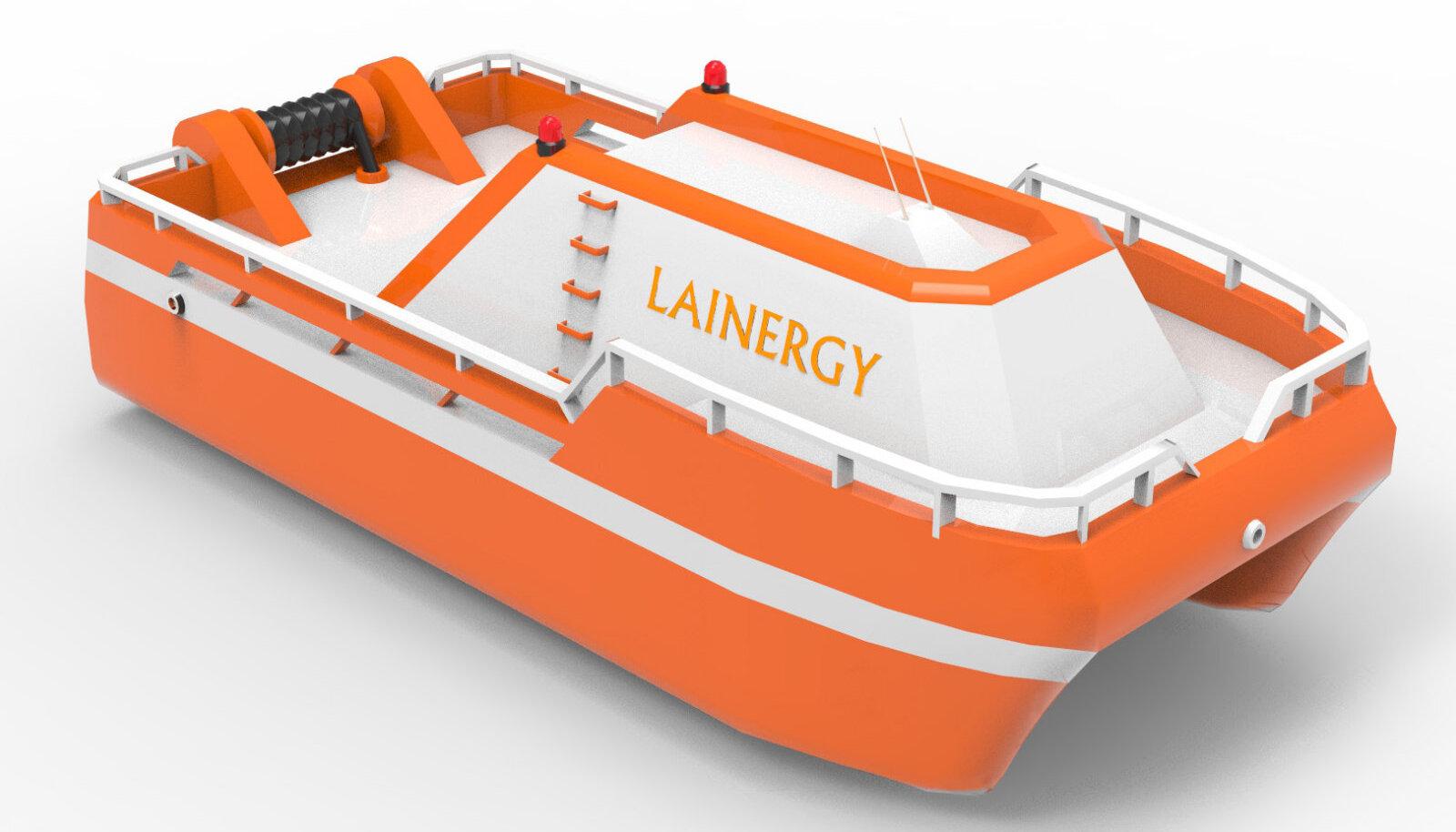2015. aasta PowerUp! rahvusvahelise finaali võidutöö Lainergy - laineenergiast elektrit tootev mobiilne ja hõljuv elektrijaam.