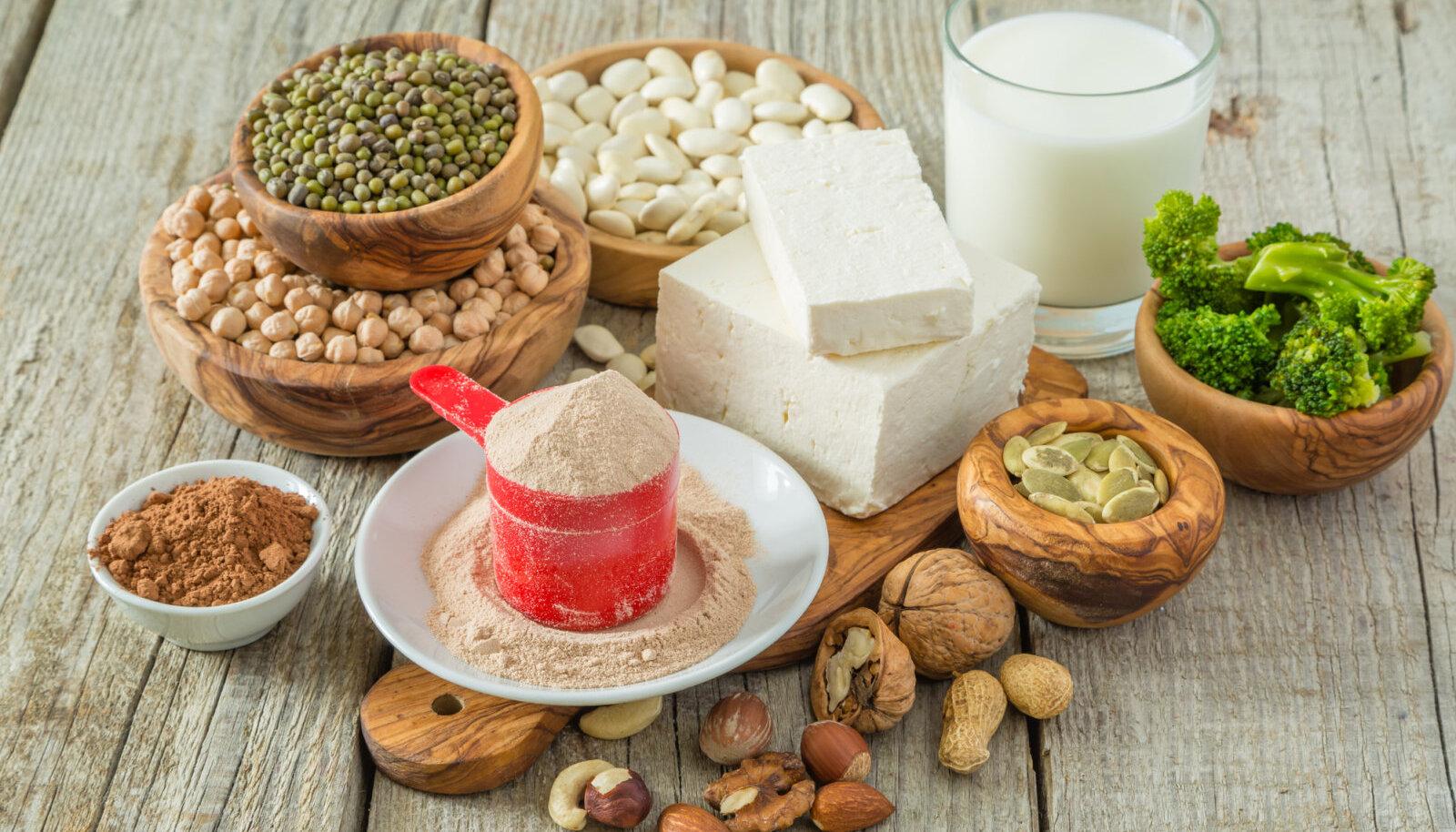 Kaunviljad ja tofu sisaldavad palju proteiini