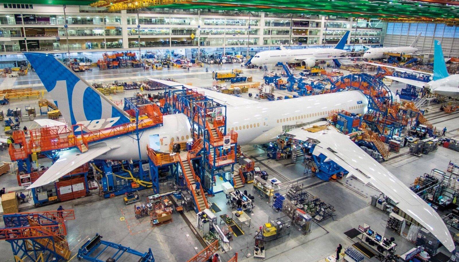 Boeing 787-10 Dreamlineri tootmise algus