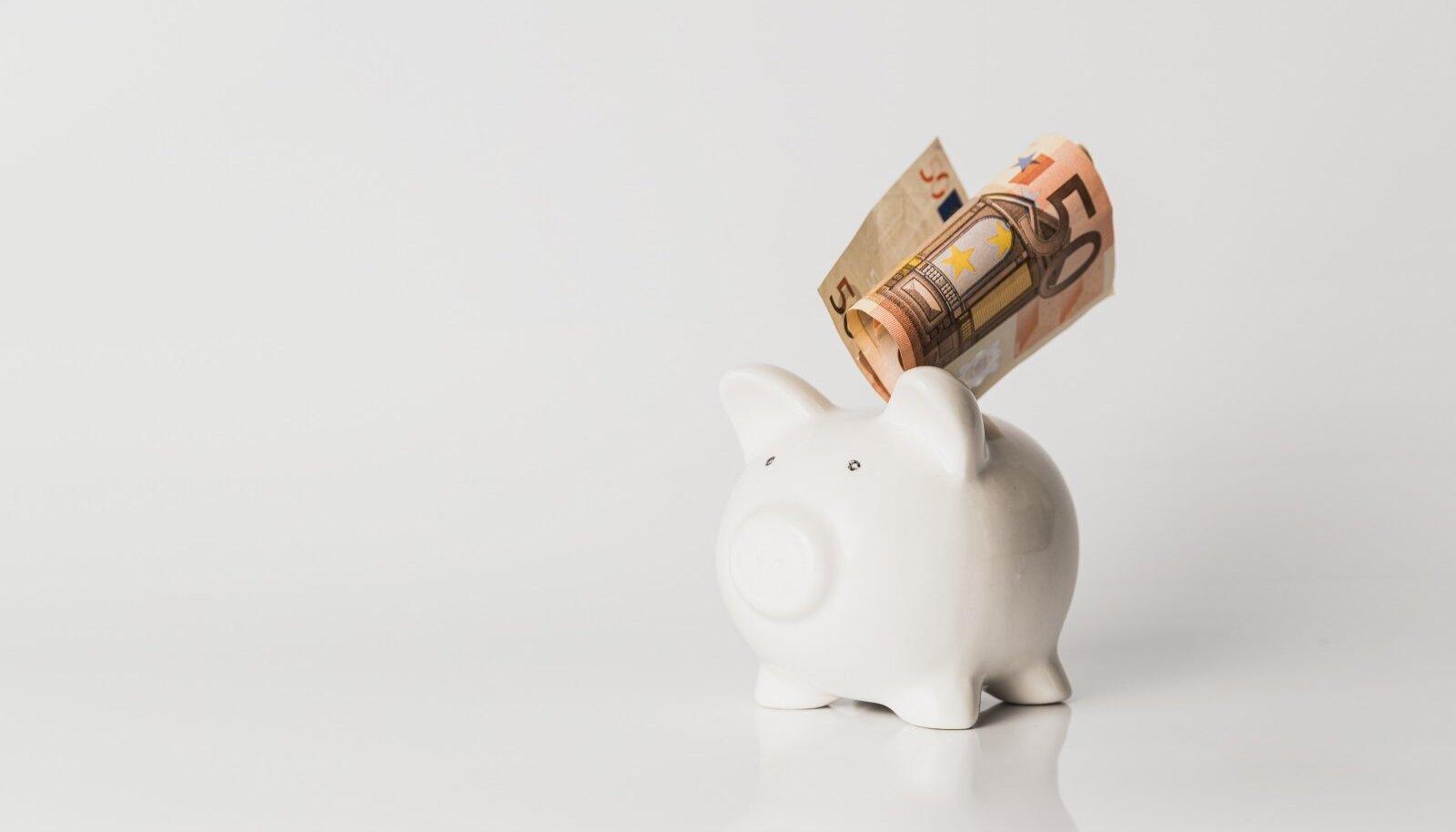 Raha, kogumine, säästmine, pension