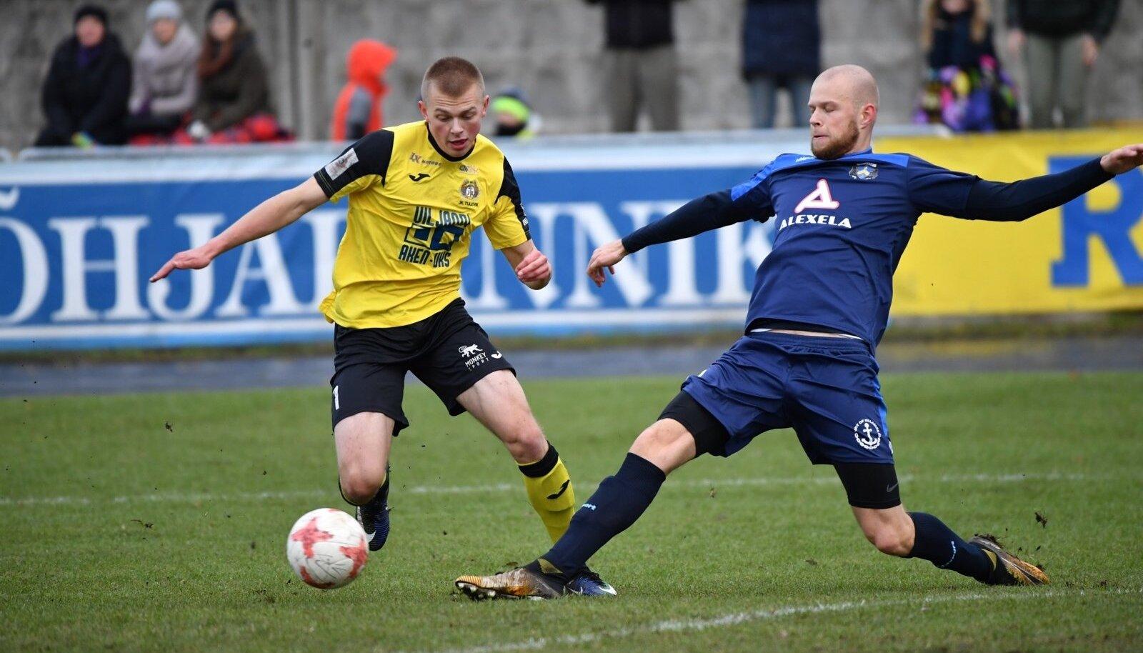 Jalgpall Sillamae Kalev vs Viljandi Tulevik