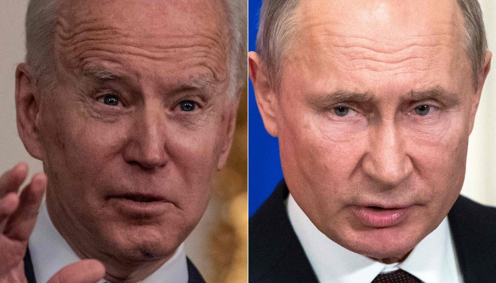 USA riigipea Joe Biden ja Vene president Vladimir Putin.