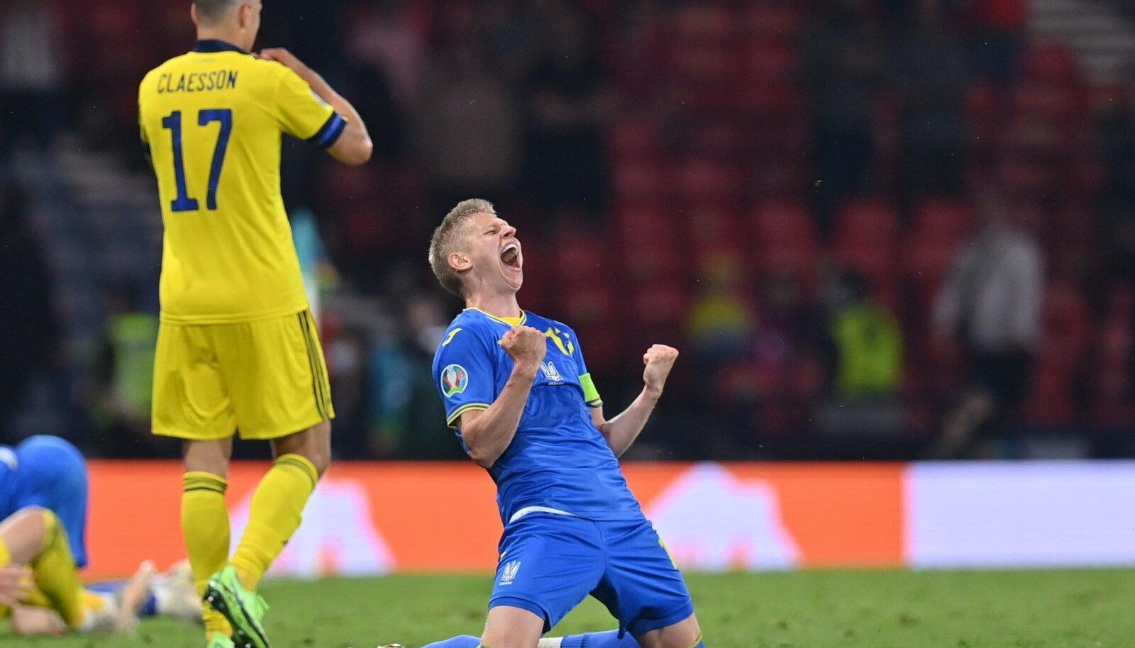 Ukraina suurim staar Oleksandr Zintšenko lõi värava ja andis otsustavale väravale söödu.