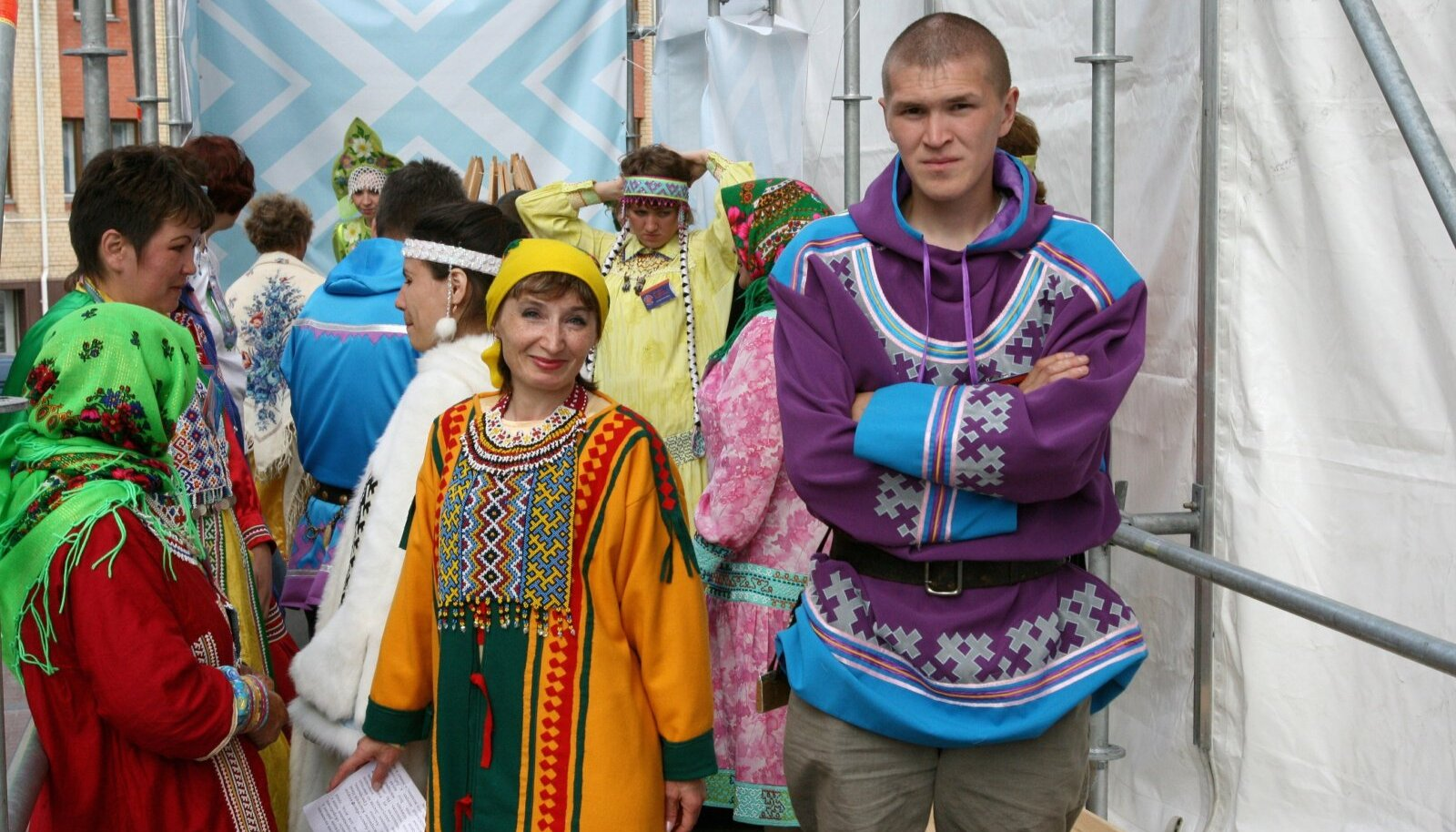 Soome-ugri maailmakongressil osalejad Hantõ-Mansiisikis 2008. aastal