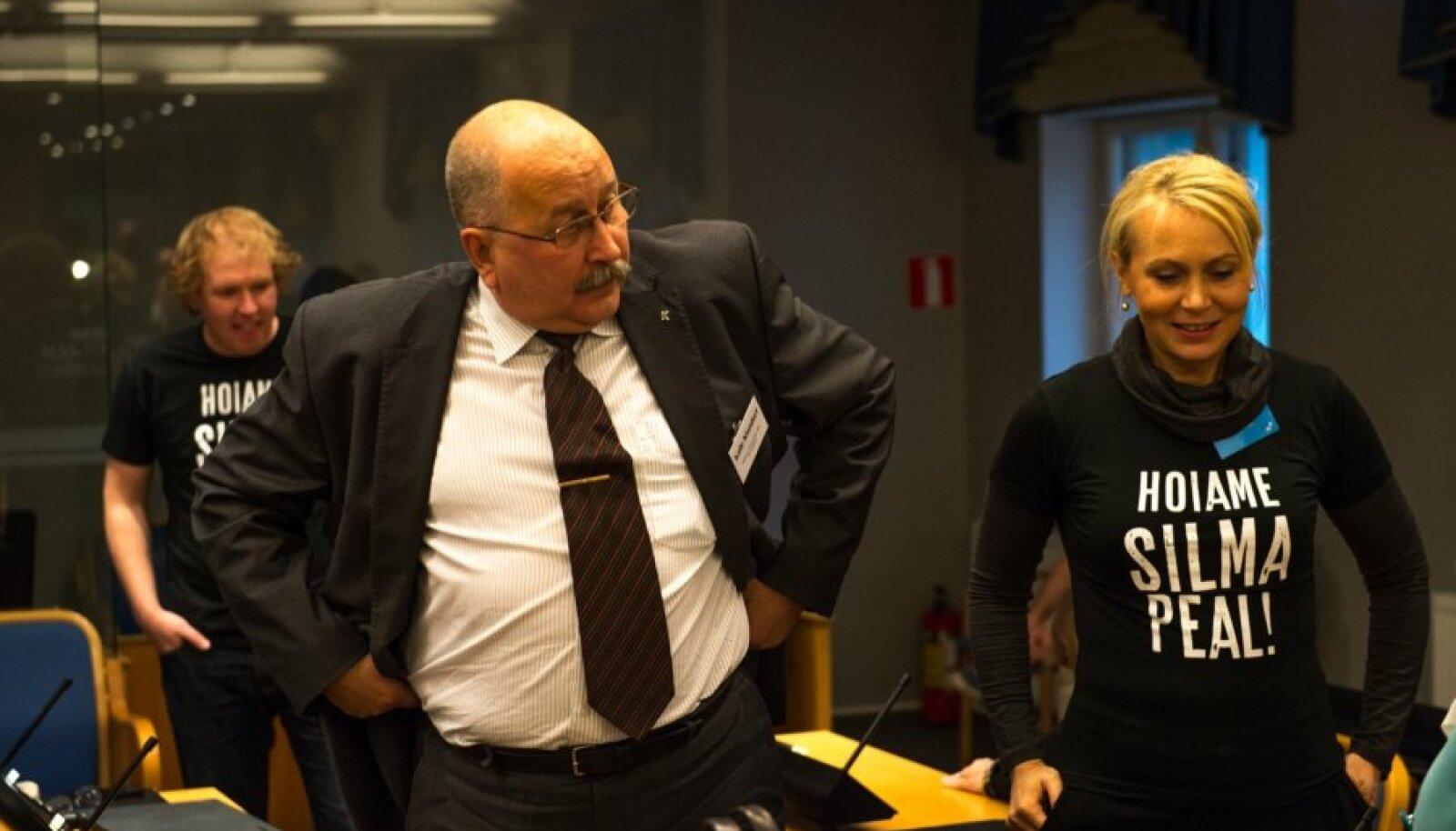 Riina Solman ja Kalle Klandorf Tallinna linnavolikogu avaistungil