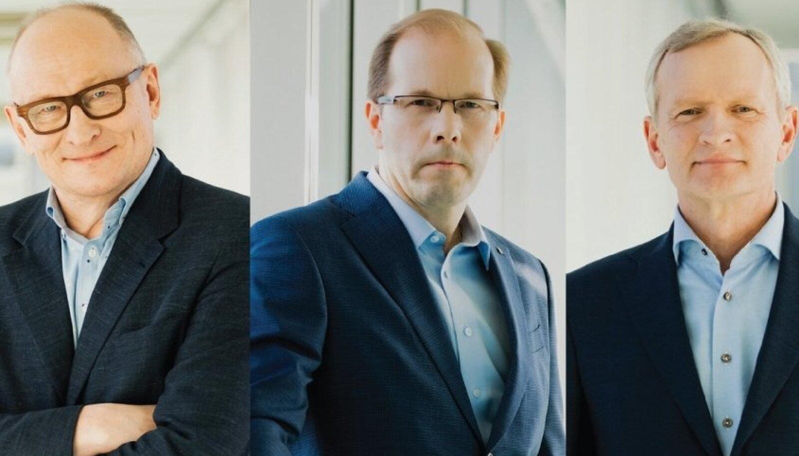 TalTechi rektorikandidaadid Jaak Aaviksoo, Jarek Kurnitski ja Tiit Land
