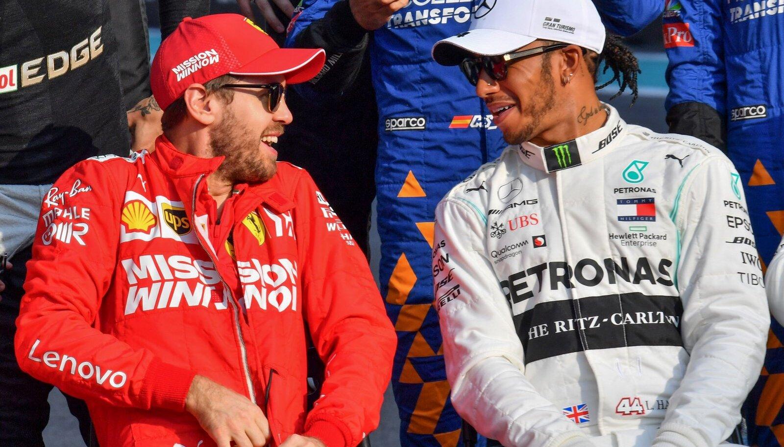 Sebastian Vettel ja Lewis Hamilton