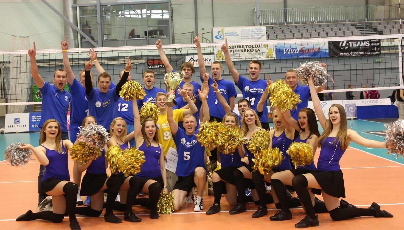 Linnade karikas võrkpallis 2014, võitja Rakvere vk