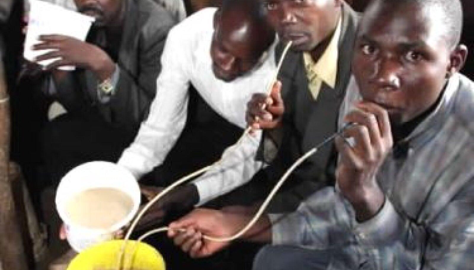 Keenia neegrid joovad kohalikku salaviina