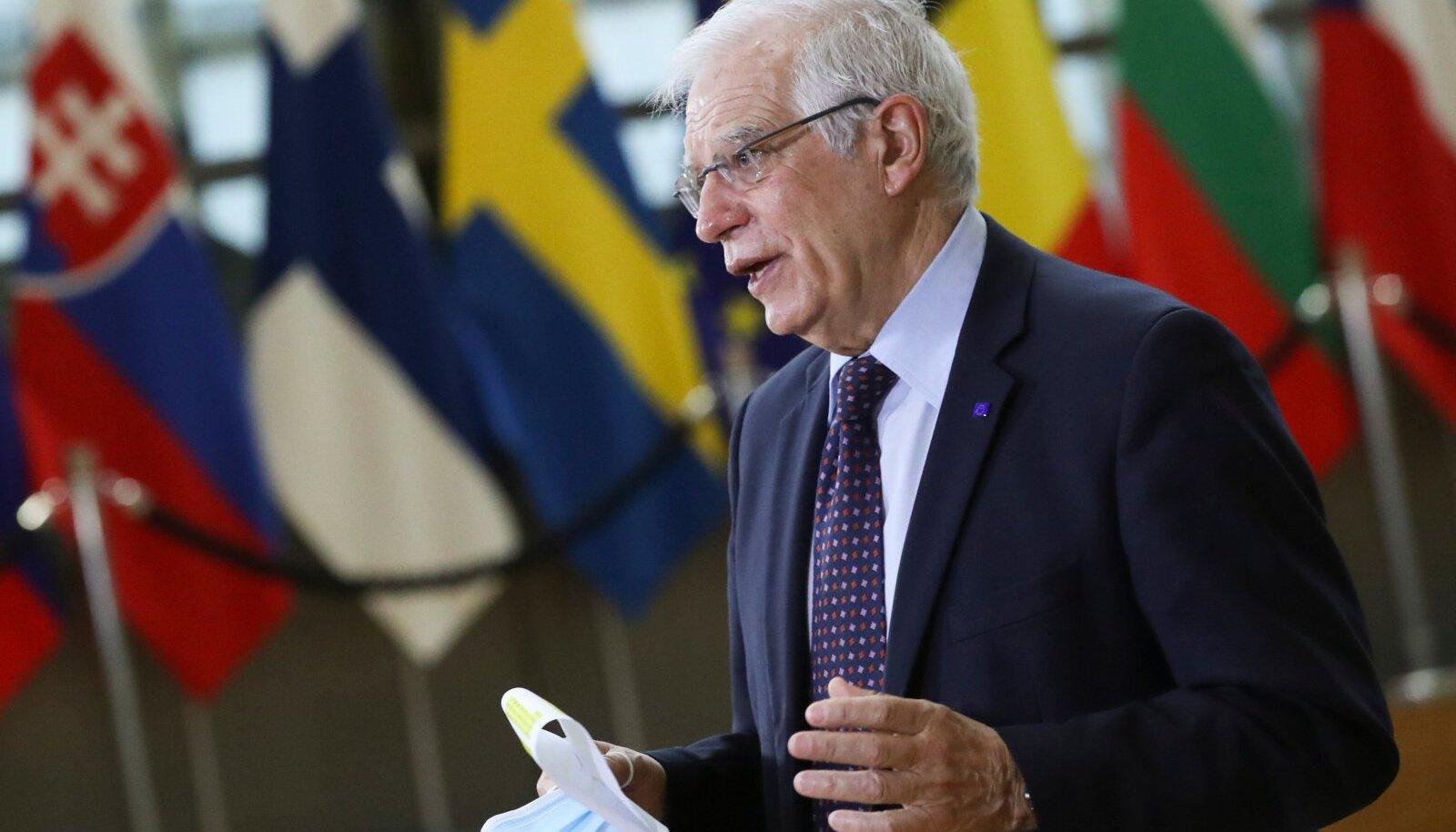 """""""Ministrid olid üksmeelel, et Venemaa liigub autoritaarsuse suunas ja Euroopast eemale,"""" ütles EL-i välisesindaja Josep Borrell."""
