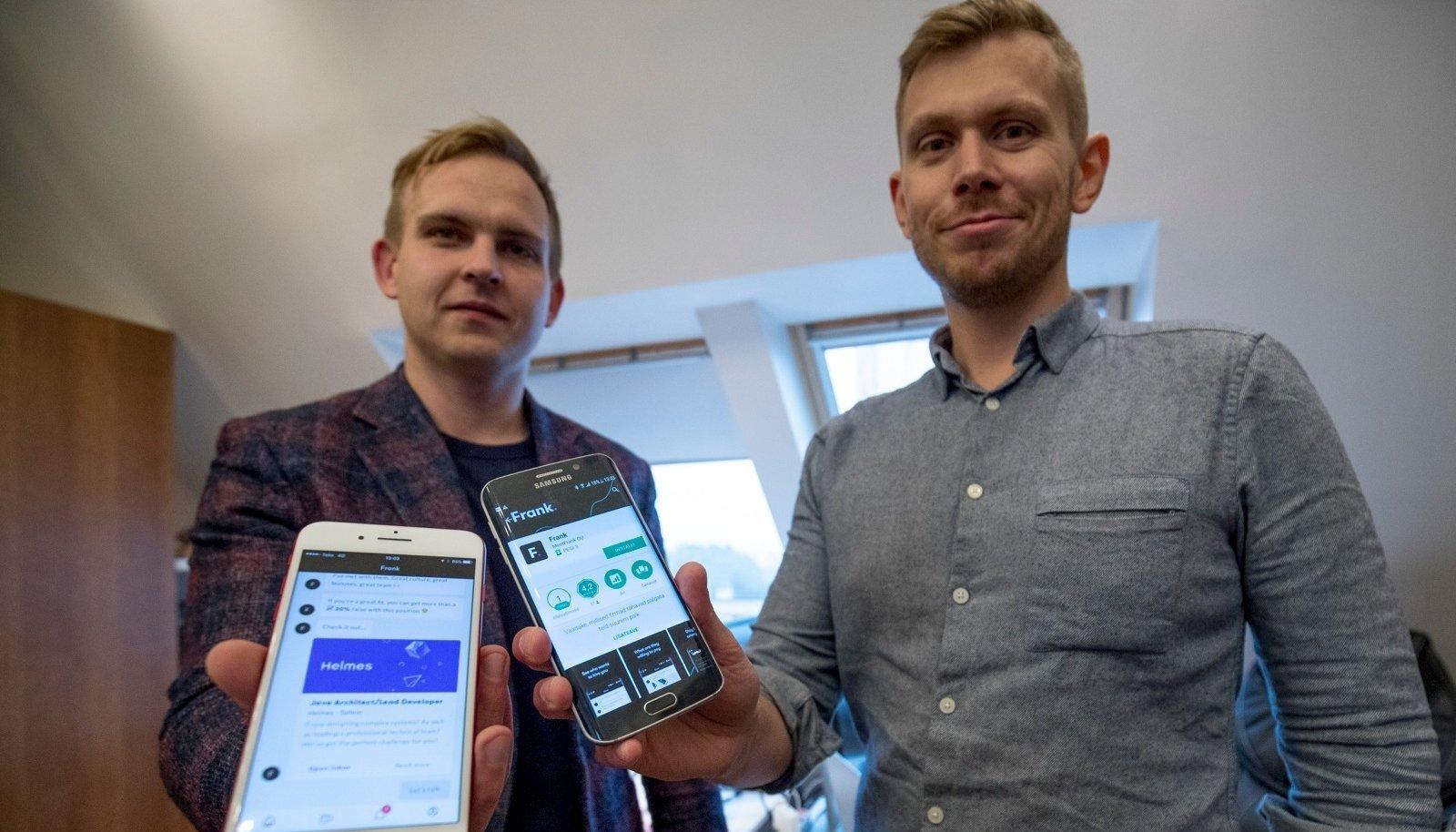 Kaarel Holm (vasakul) ja Anton Narusberg soovivad värbamisvaldkonda muuta.