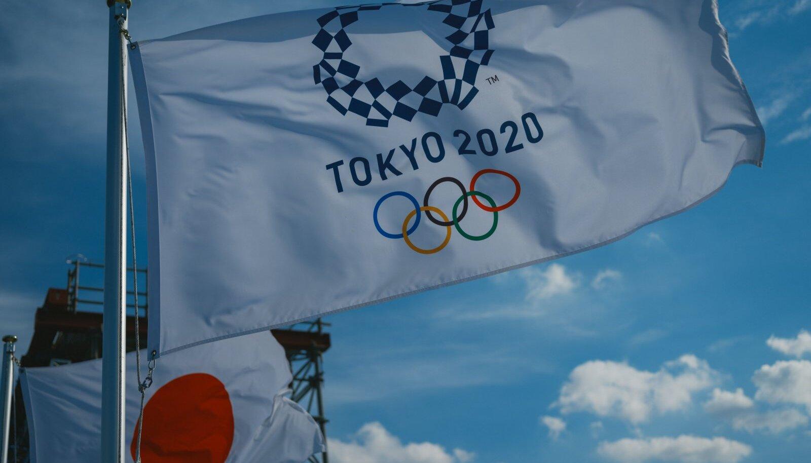 Tokyo olümpiamängude lipp