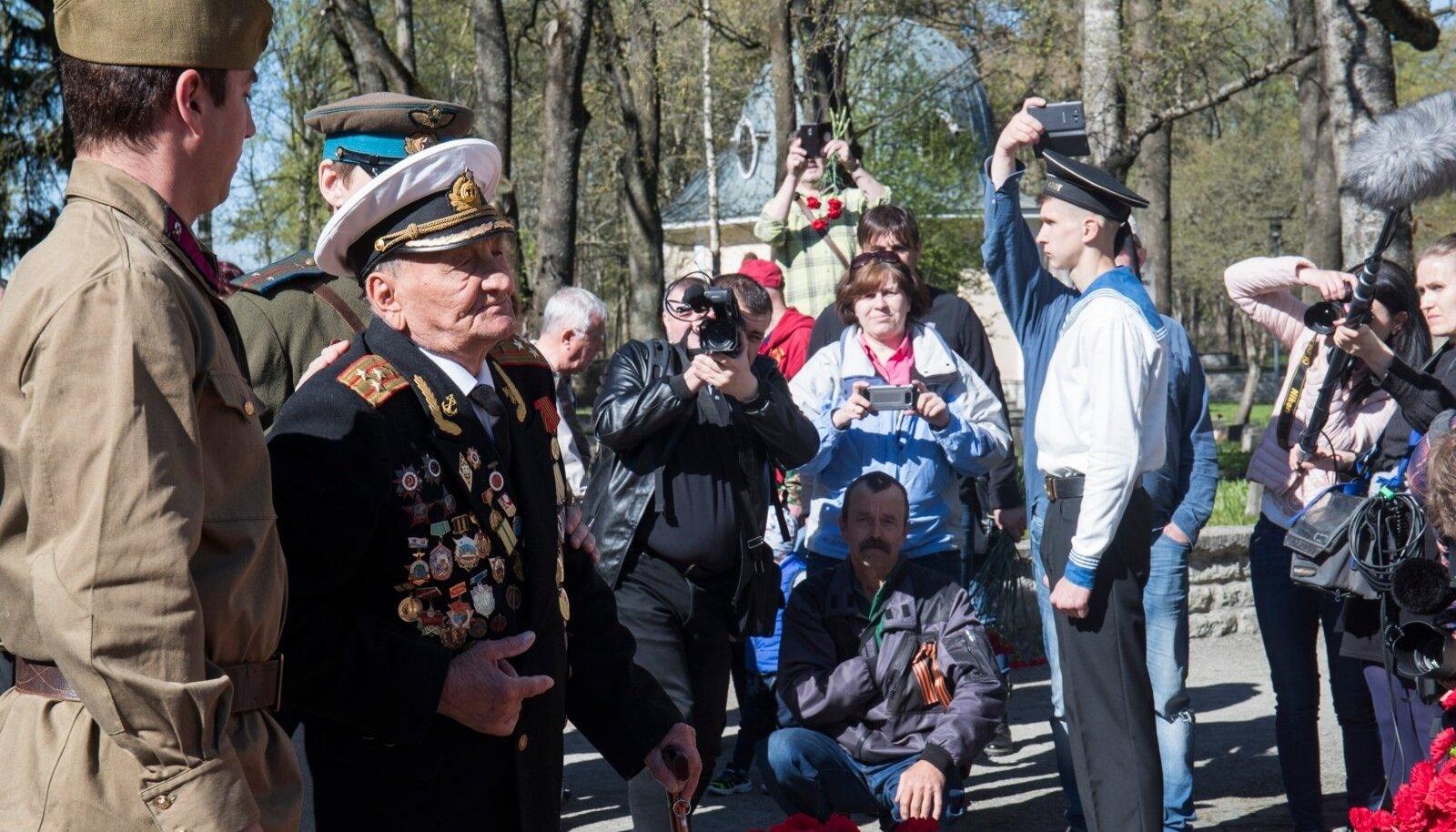 9. mai tähistamine Pronkssõduri juures 2018