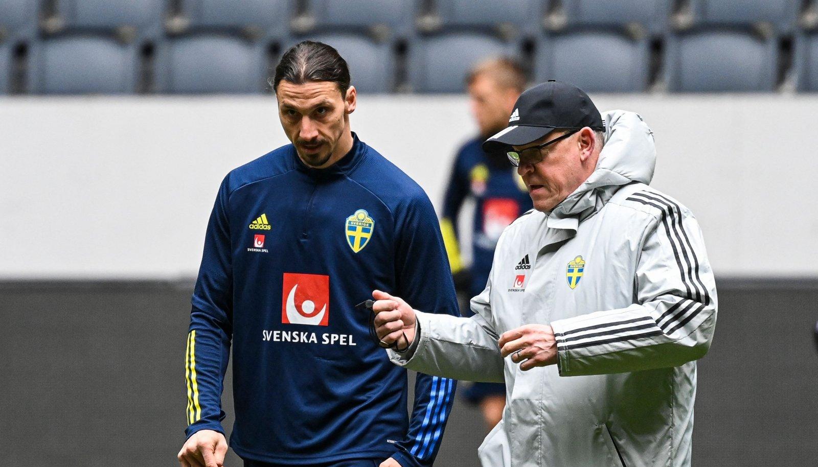 Zlatan Ibrahimovic ja Janne Andersson