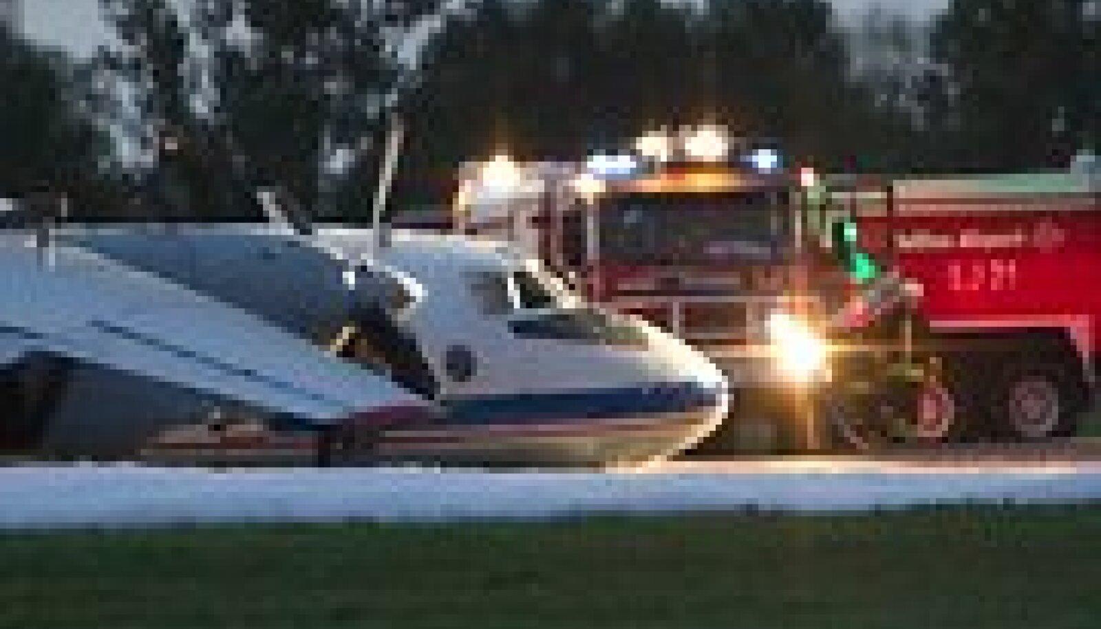 Lennuõnnetus Tallinna lennujaama maandumisrajal