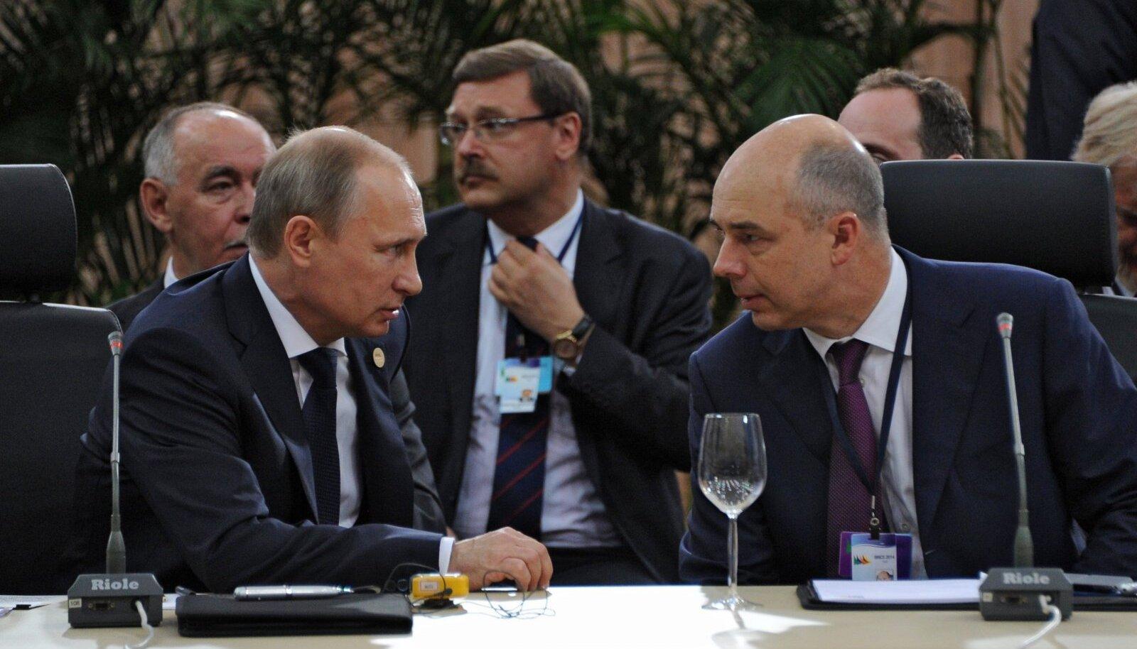 Vladimir Putin ja Anton Siluanov