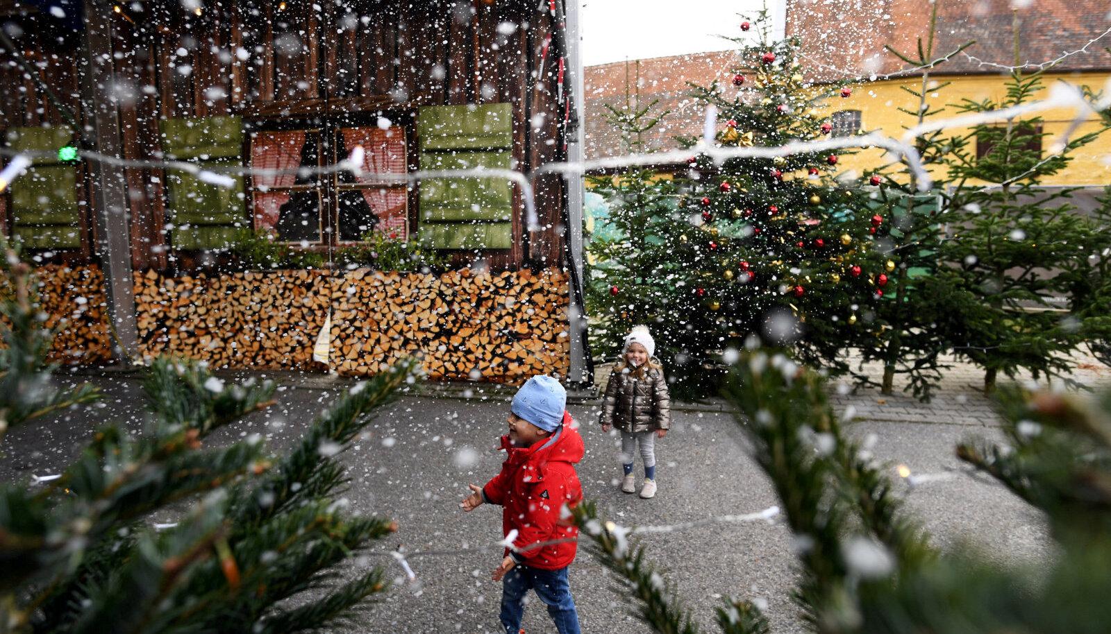 Lapsed mängivad Saksamaal Landshuti jõuluturul