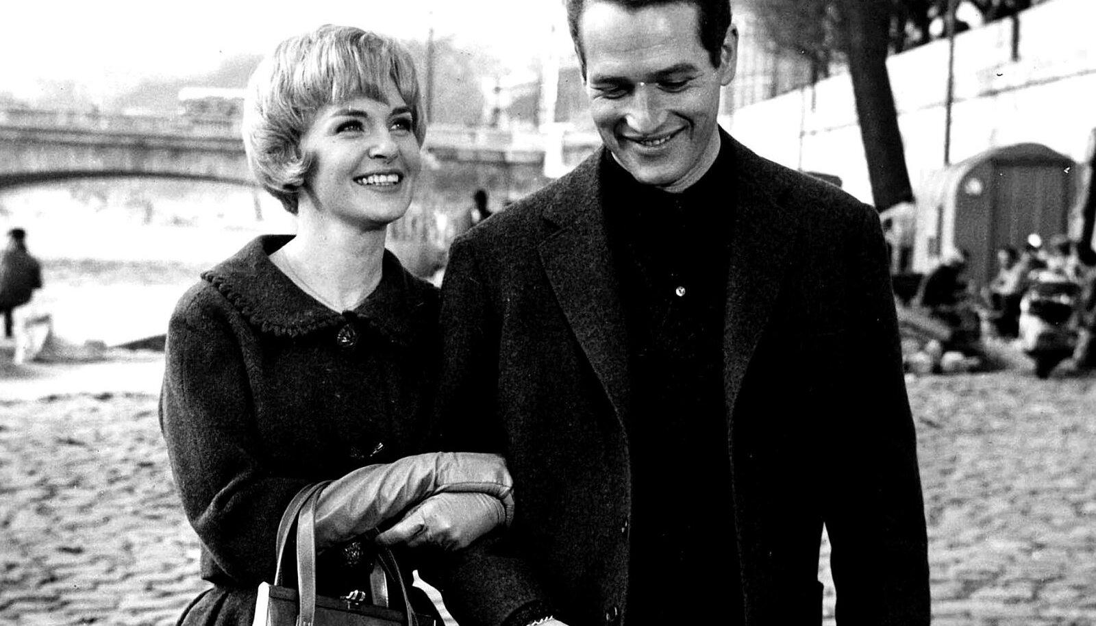 "Paul Newman ja Joanne Woodward filmis ""Pariisi bluus"" (1961)."
