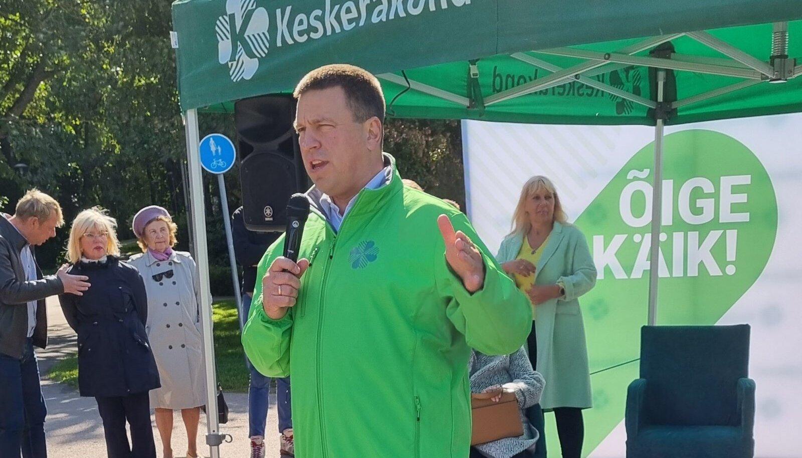 Jüri Ratas kandideerib tänavu esinumbrina Mustamäel.