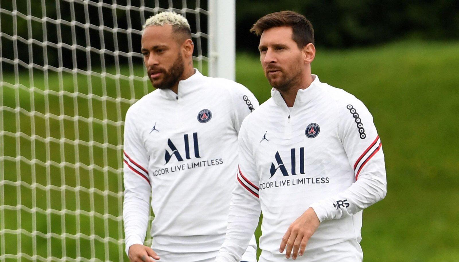 Neymar ja Lionel Messi. Kumbki pole tänavusel hooajal veel PSG eest platsile pääsenud.