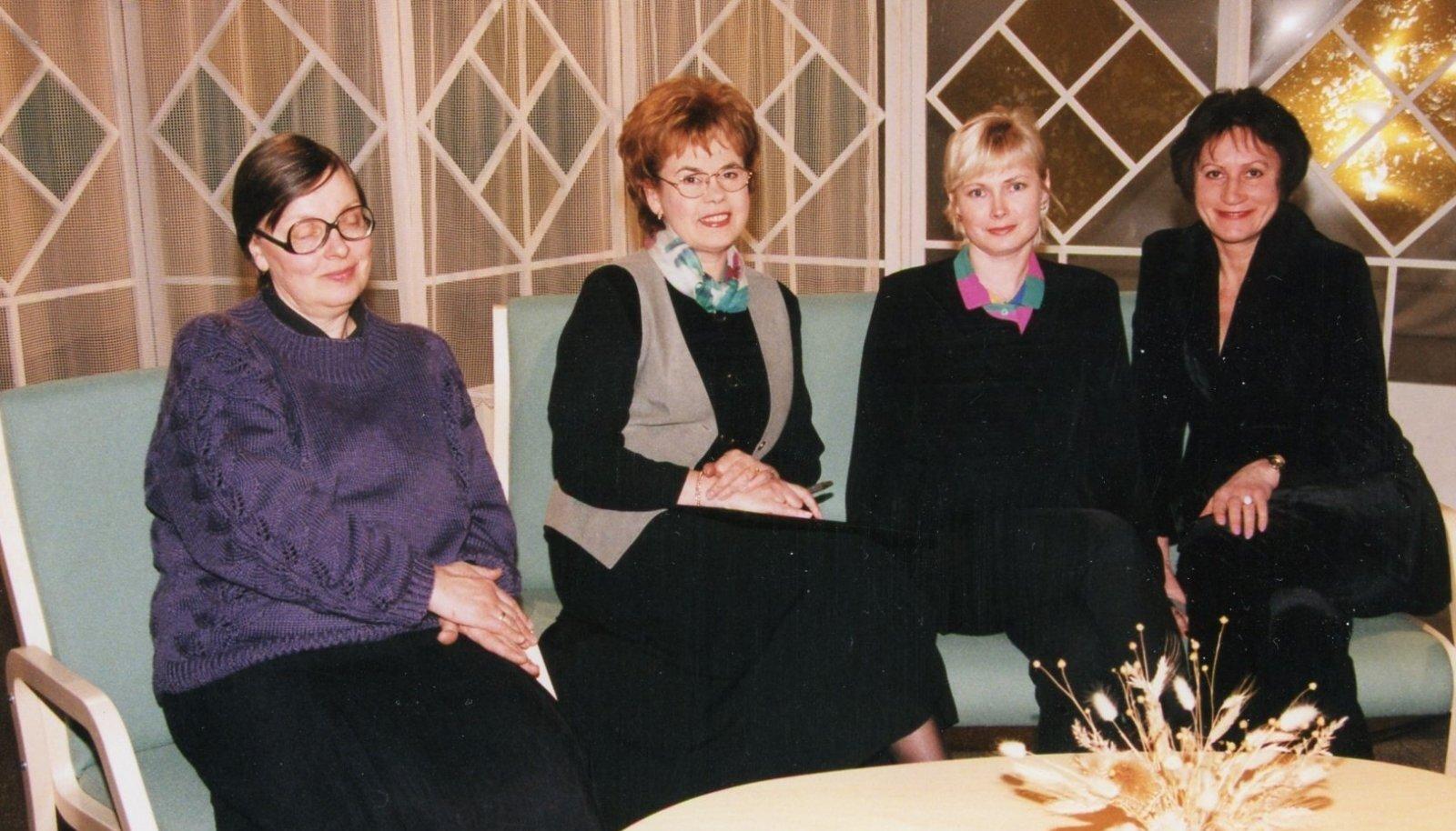 """Omaaegne """"Prillitoosi"""" naiskond: Tiiu Übi, Ela Tomson, Marika Rauam ja Ruti Murusalu."""
