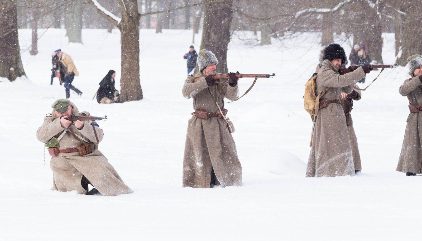 Vabadussõja-teemaline näidislahing Viimsis Sõjamuuseumis