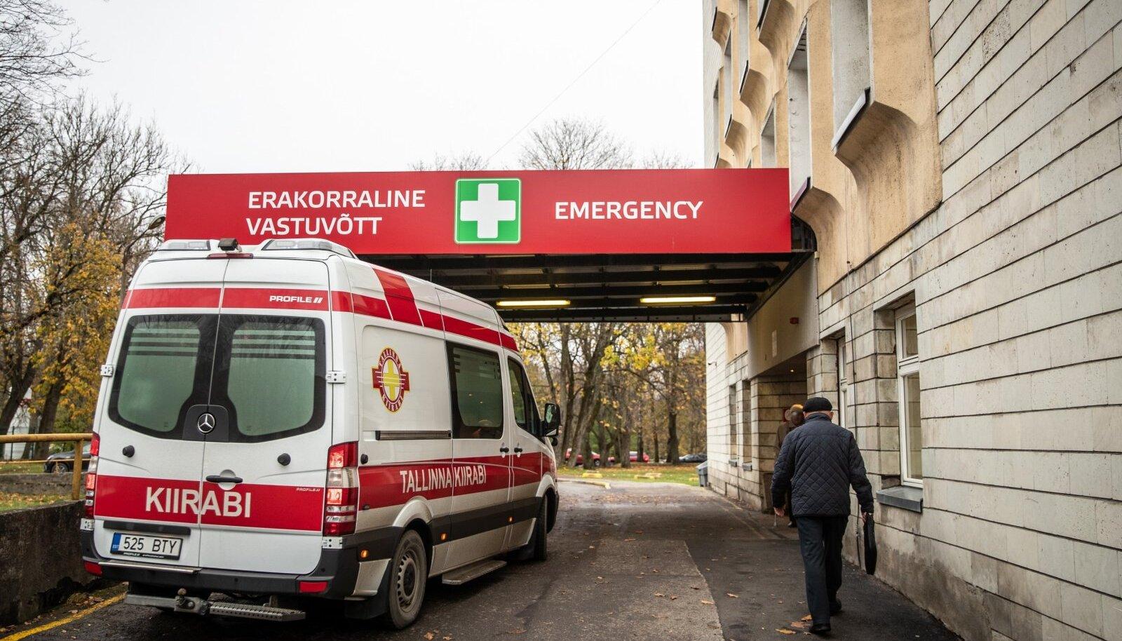 """""""Täna on olukord natuke rahulikum, aga eile oli meil tõesti järjekord kiirabidest, enamus neist tõid koroonapatsiente,"""" sõnati Ida-Tallinna Keskhaiglast."""
