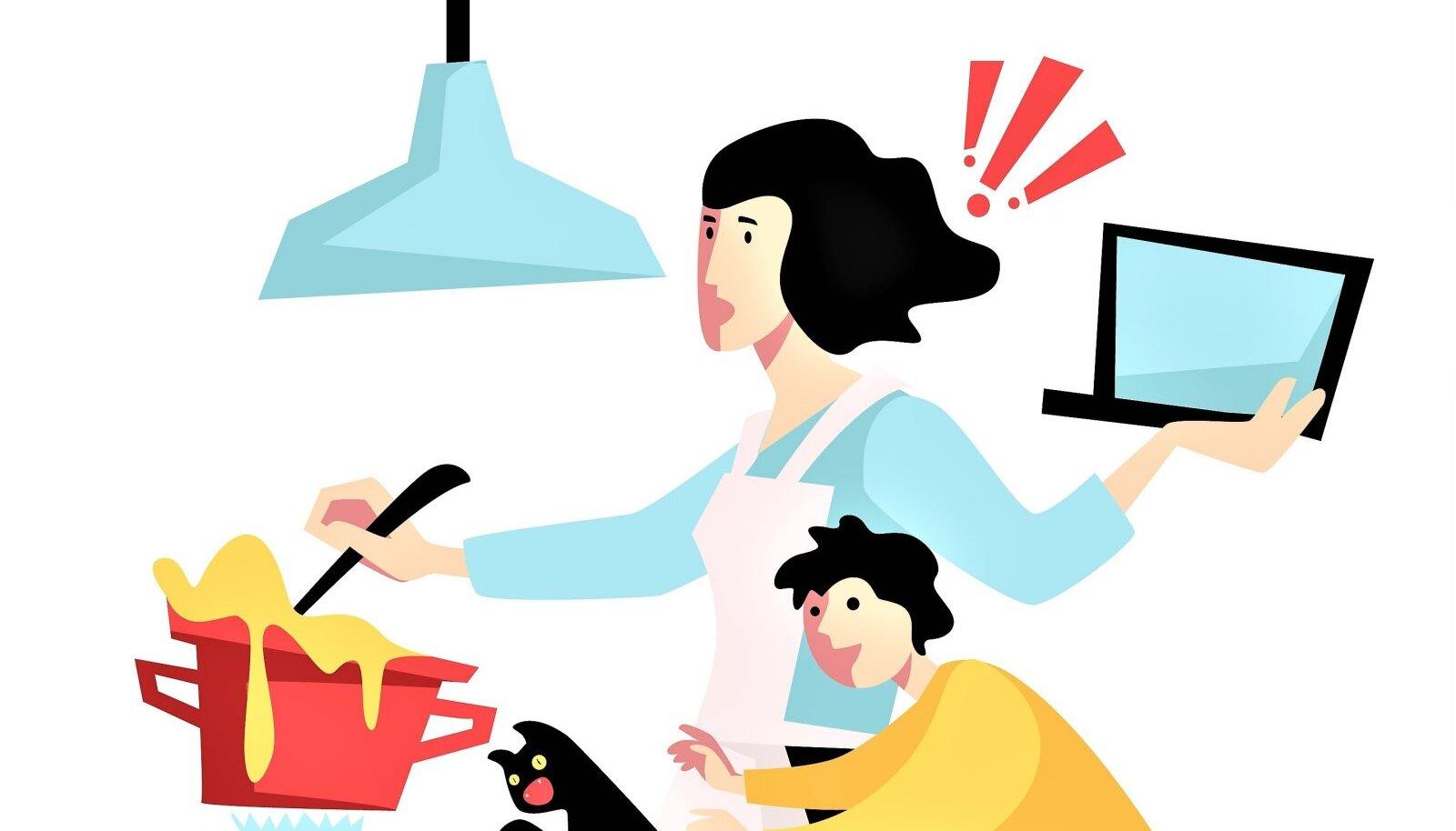 """""""PERED LEIAVAD LAHENDUSE"""": Enamasti tegelevad sellega emad, et haiged oleks hooldatud, pere oleks söönud, toad oleks koristatud ja laste koolitööd oleks ka distantsõppe ja kodukontori tingimustes tehtud."""