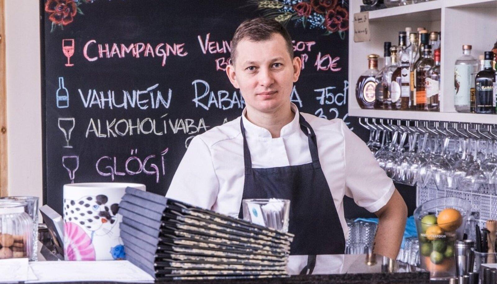 Roman Zaštšerinski peab oma kolme restorani menu aluseks töötajaid, kes võivad olla nemad ise.