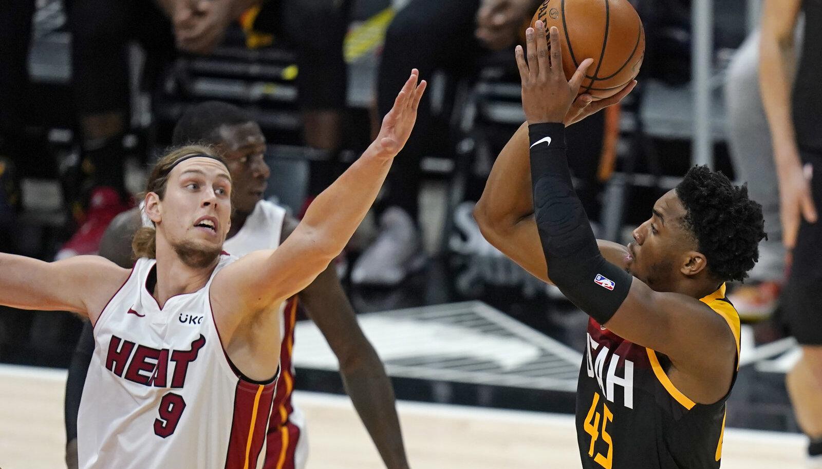 Donovan Mitchell viskas Utah Jazzi võidumängus meeskonna parimana 26 punkti.